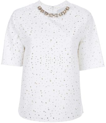 3.1 Phillip Lim Crystal Embellished Top - Lyst