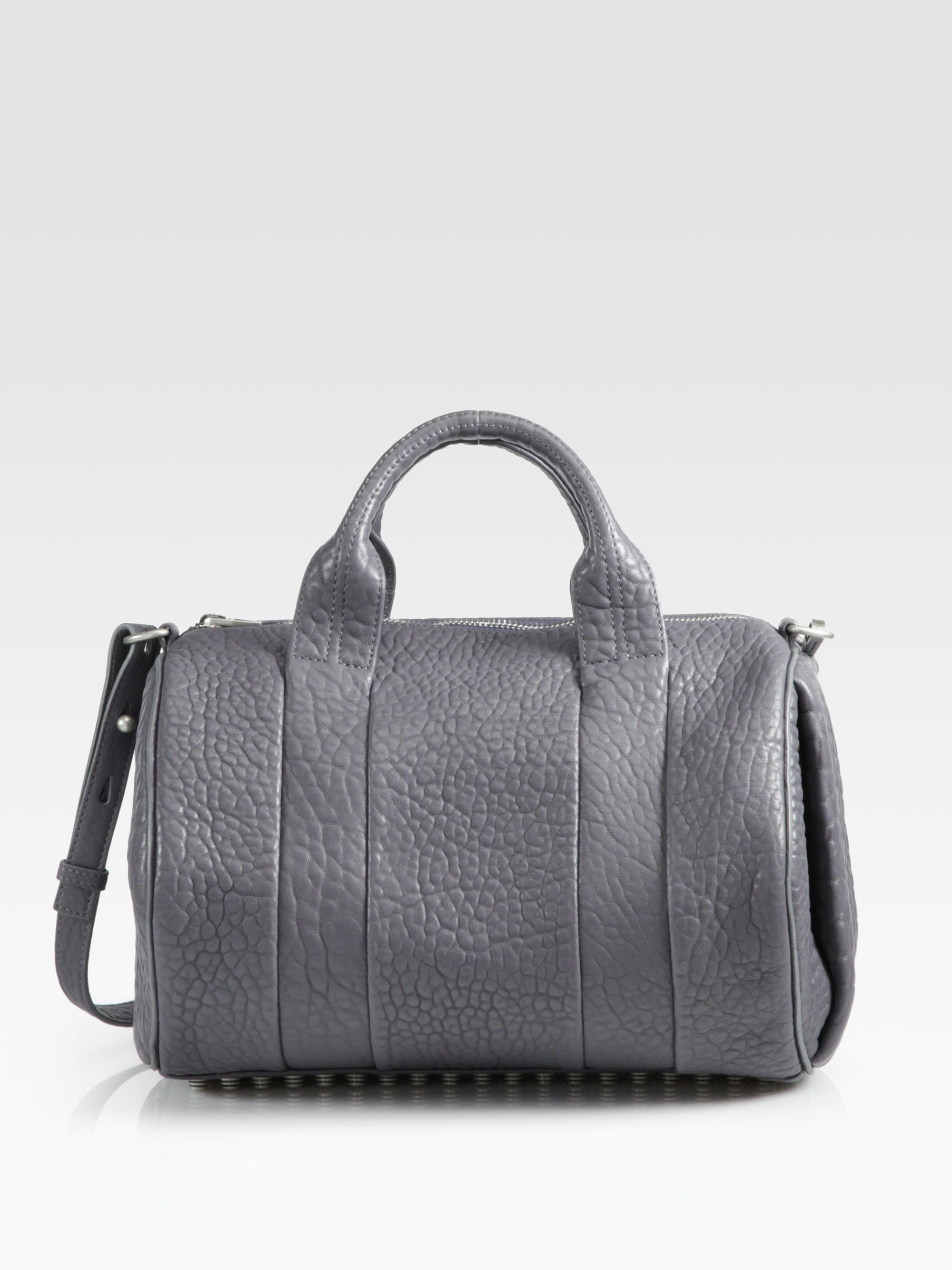 alexander wang rocco satchel in gray tundra lyst. Black Bedroom Furniture Sets. Home Design Ideas