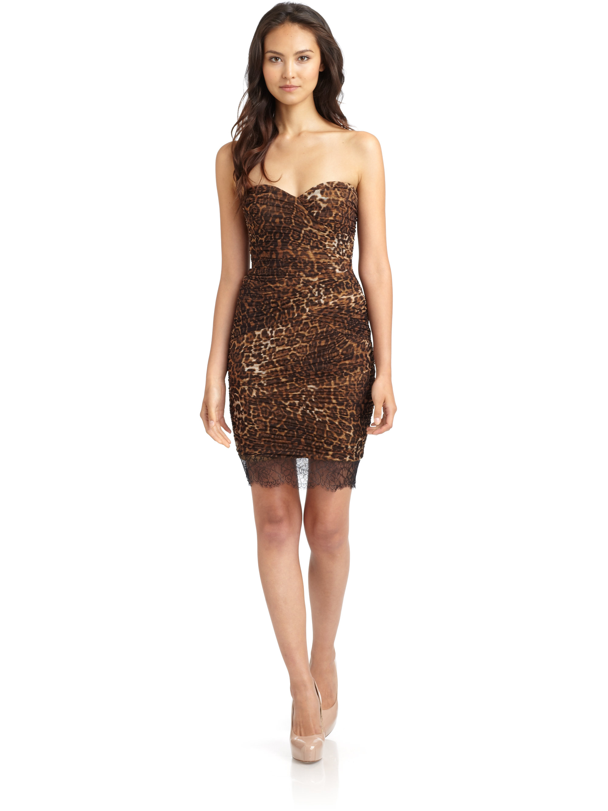 Lyst - Bcbgmaxazria Bovary Ruched Leopard Cocktail Dress
