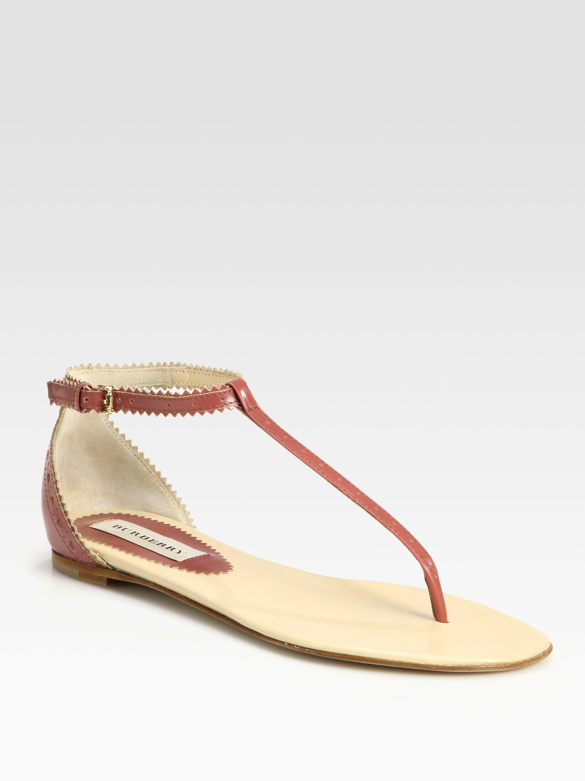 Burberry Leather Thong Sandals clearance online fake wKCee