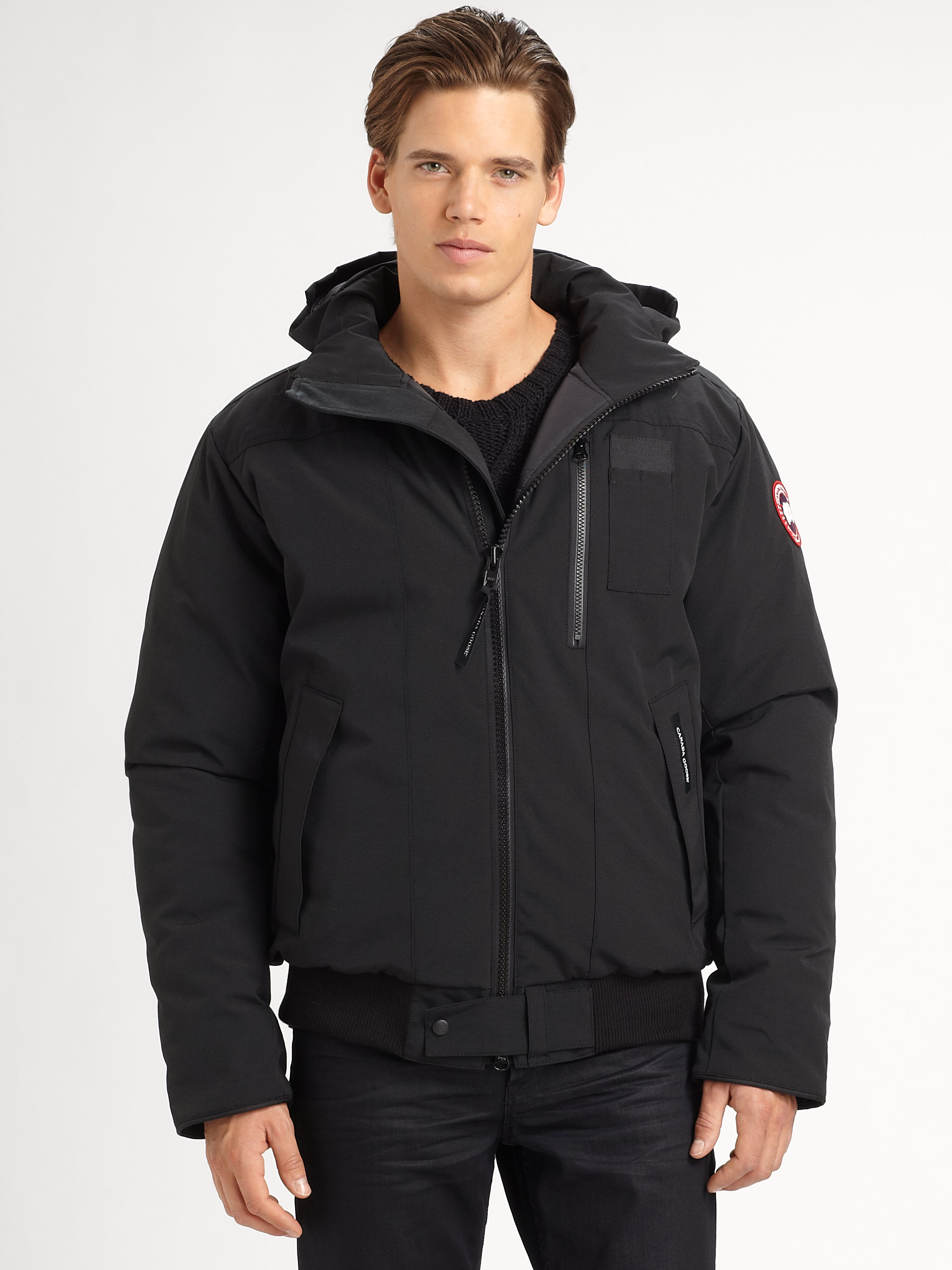 canada goose borden bomber jacket in black for men lyst. Black Bedroom Furniture Sets. Home Design Ideas