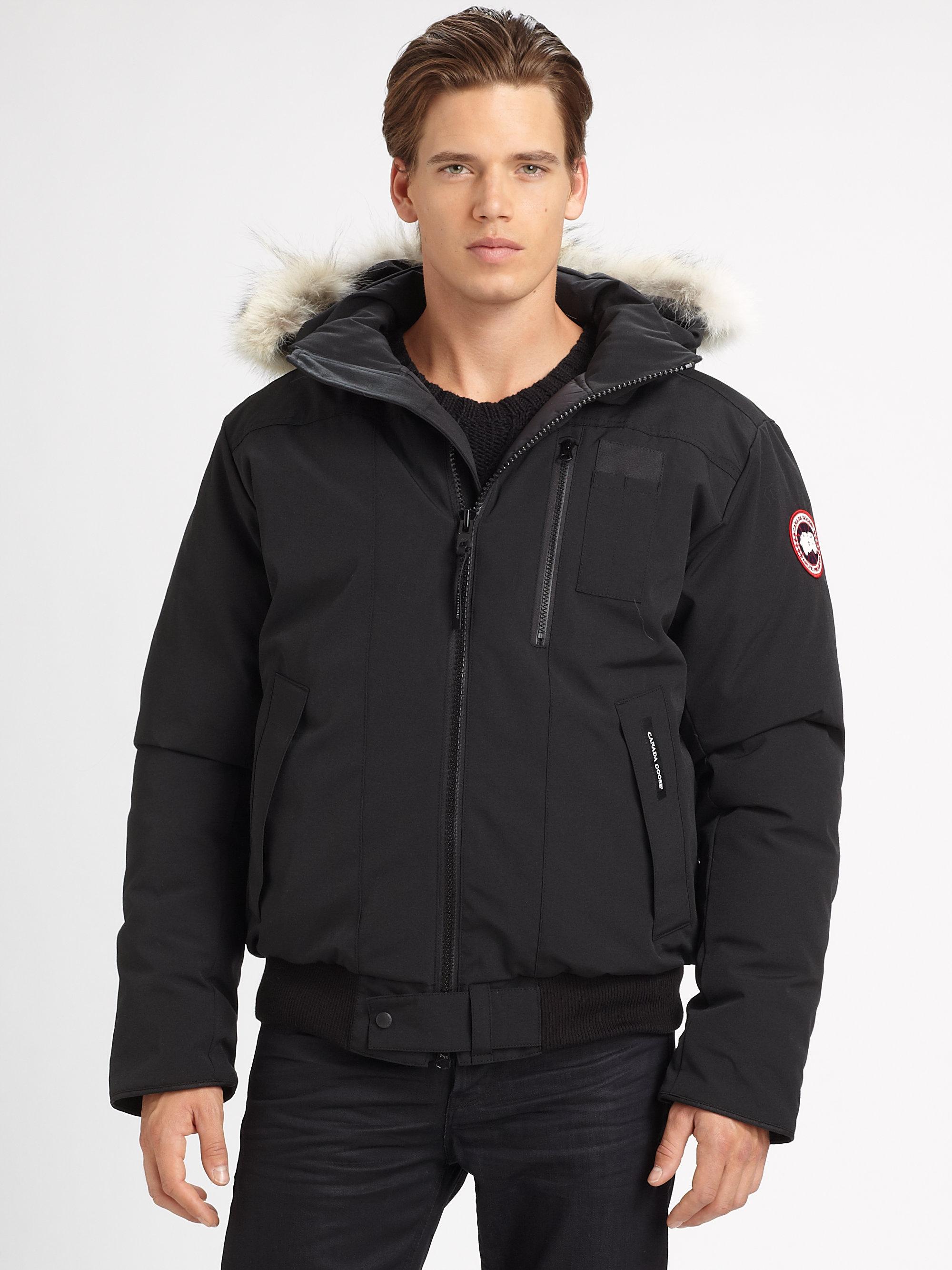 canada goose mens borden bomber jacket