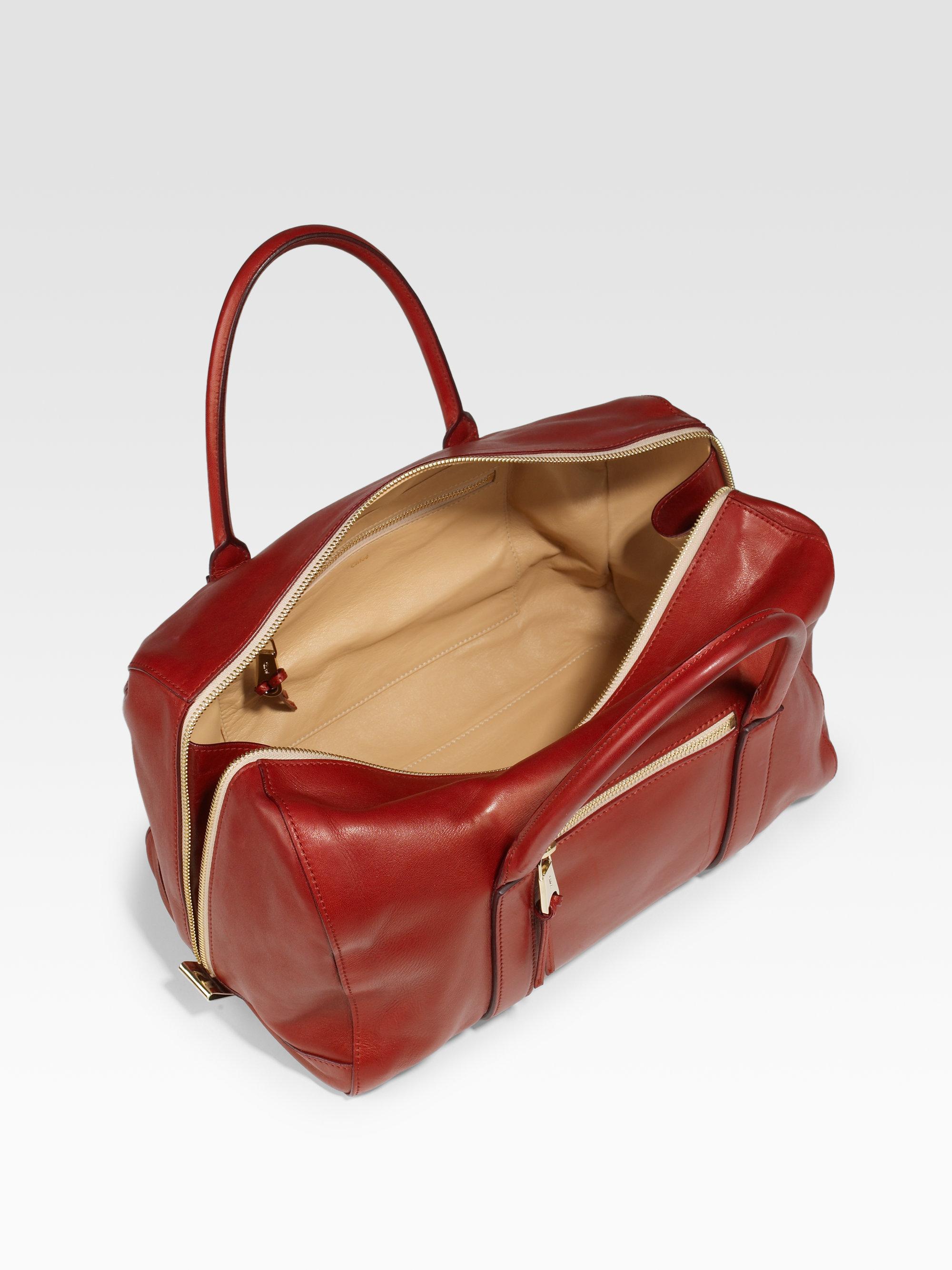 Chlo¨¦ Madeleine Large Duffel Top Handle Bag in Beige (smoke) | Lyst