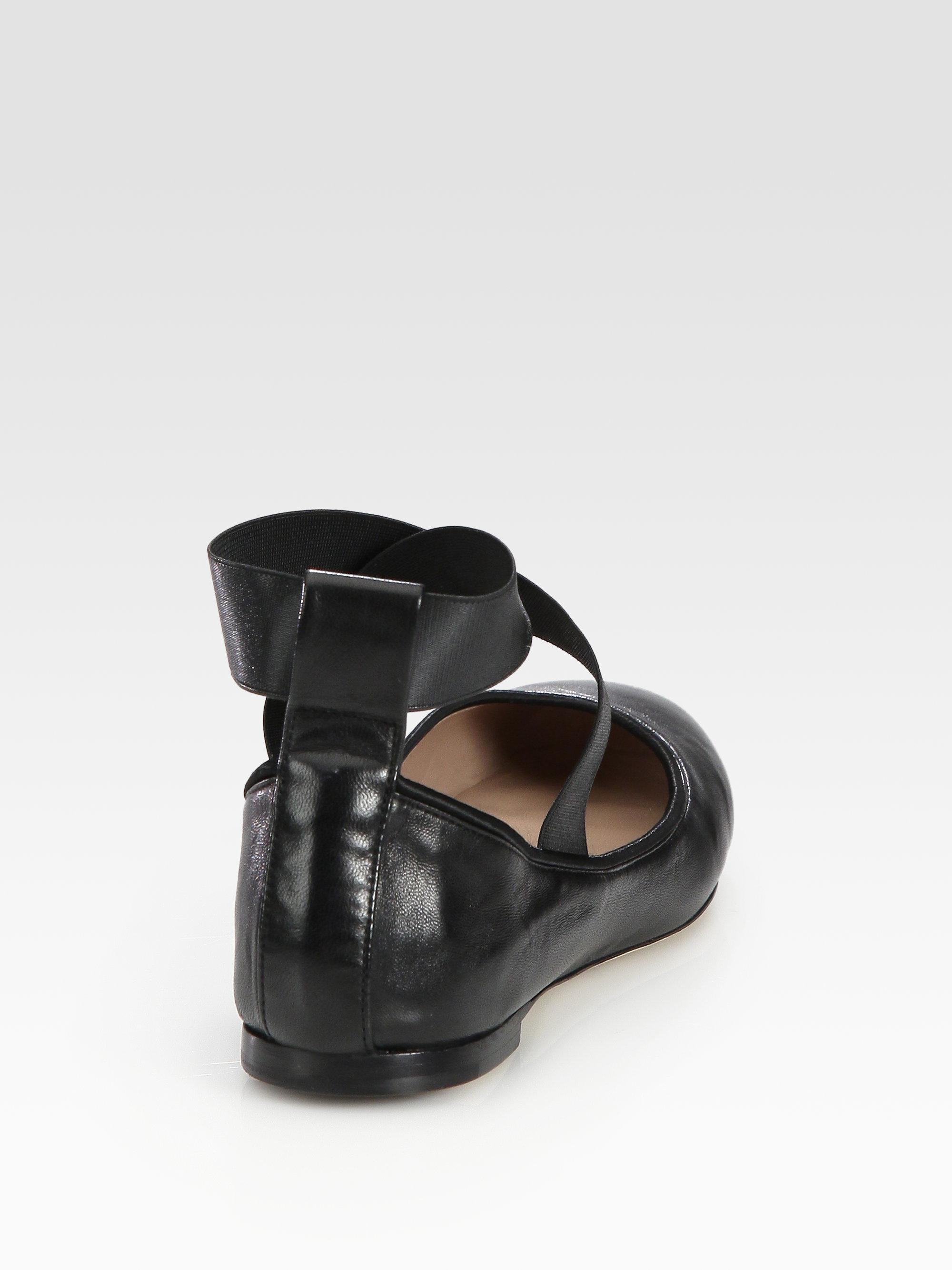 Chloé Leather Square-Toe Flats sale footlocker f376Zk8AF