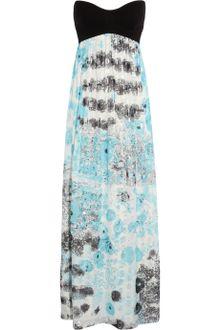 Black Jersey Maxi Dress on Printed Silkchiffon Maxi Dress In Multicolor  Multicolored    Lyst