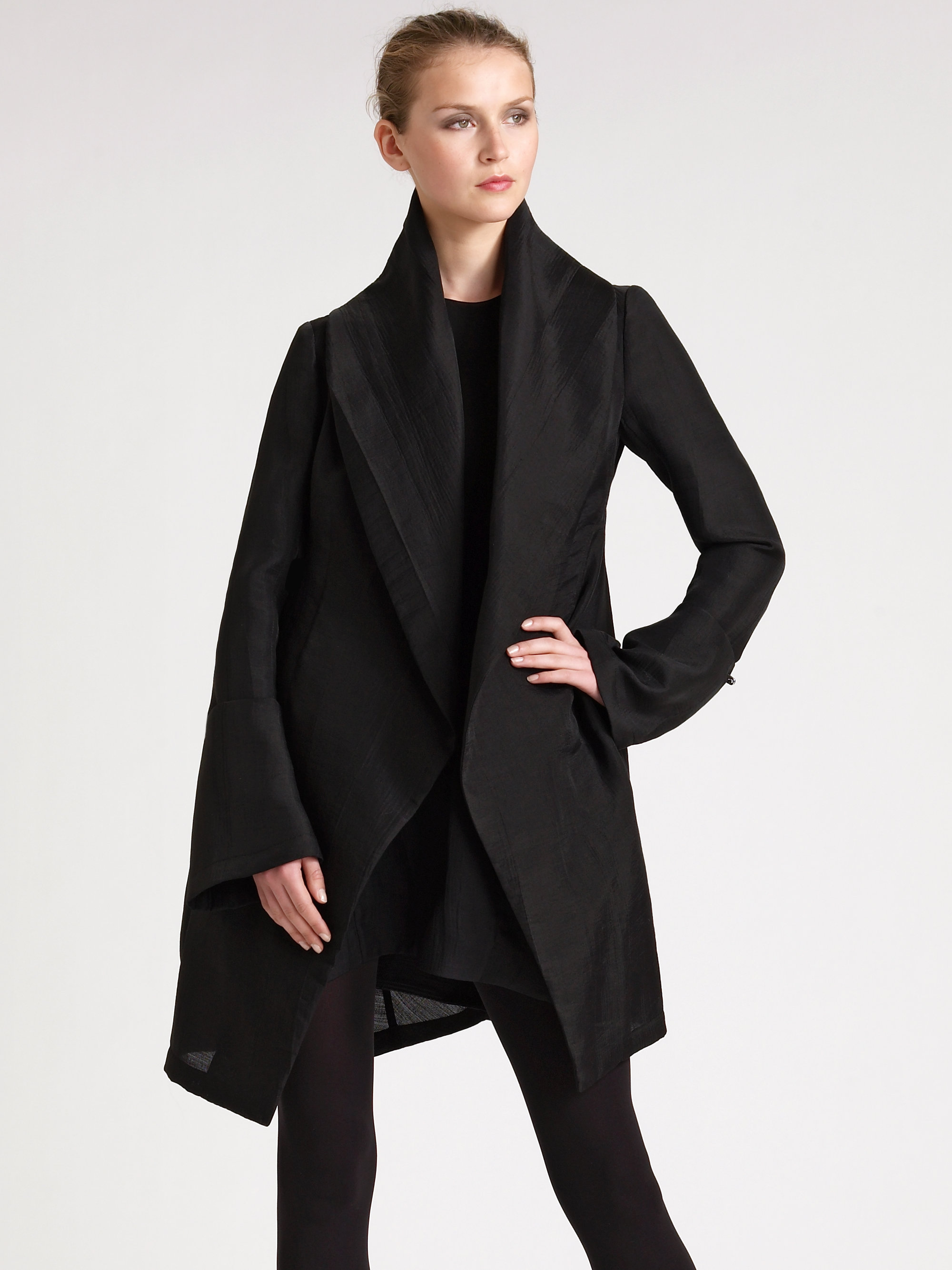 9d1c6715196e Lyst - Donna Karan Sculpted Shawl Collar Jacket in Black