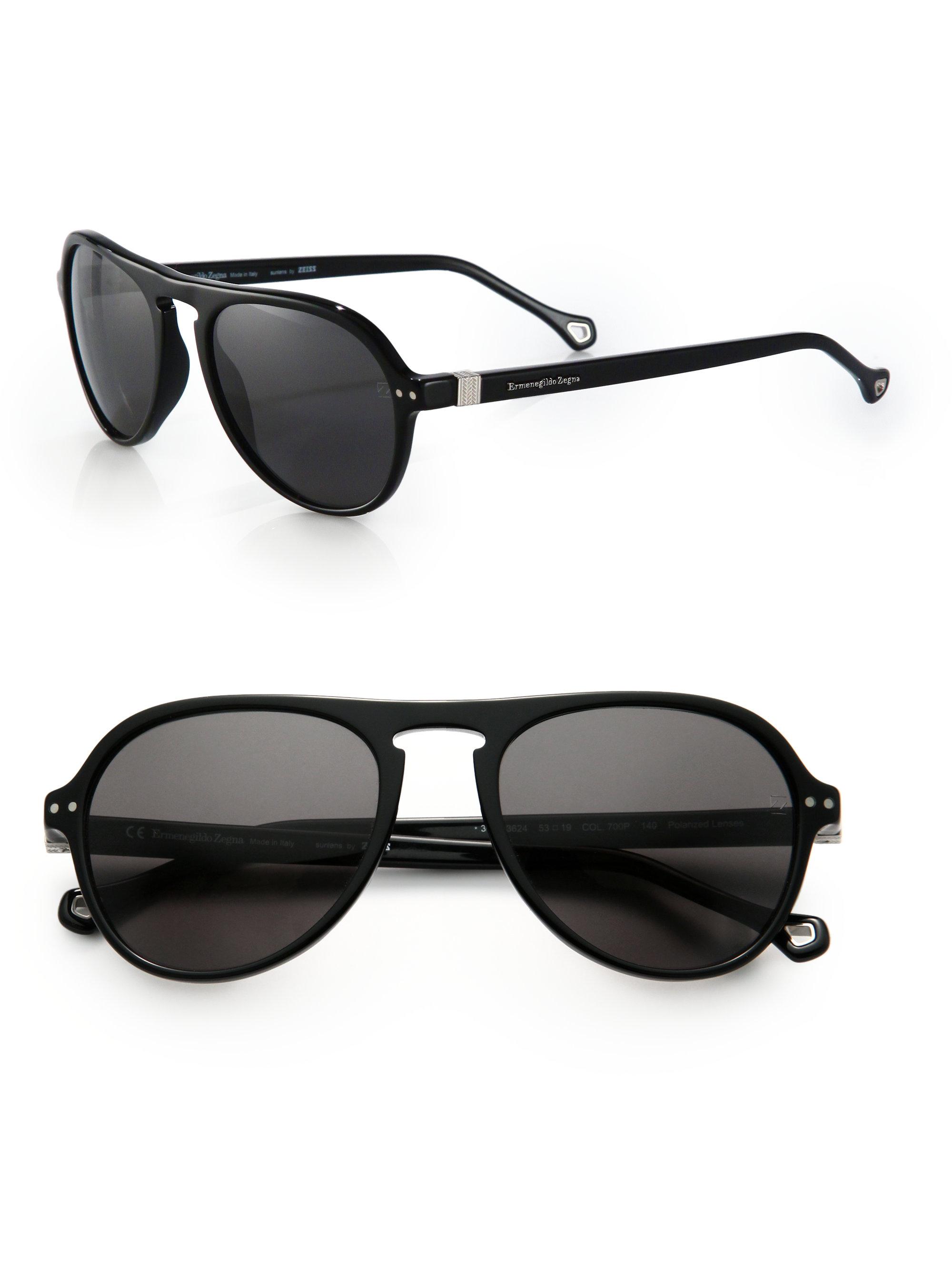 Zegna Sunglasses  ermenegildo zegna vintage aviator sunglasses in metallic for men