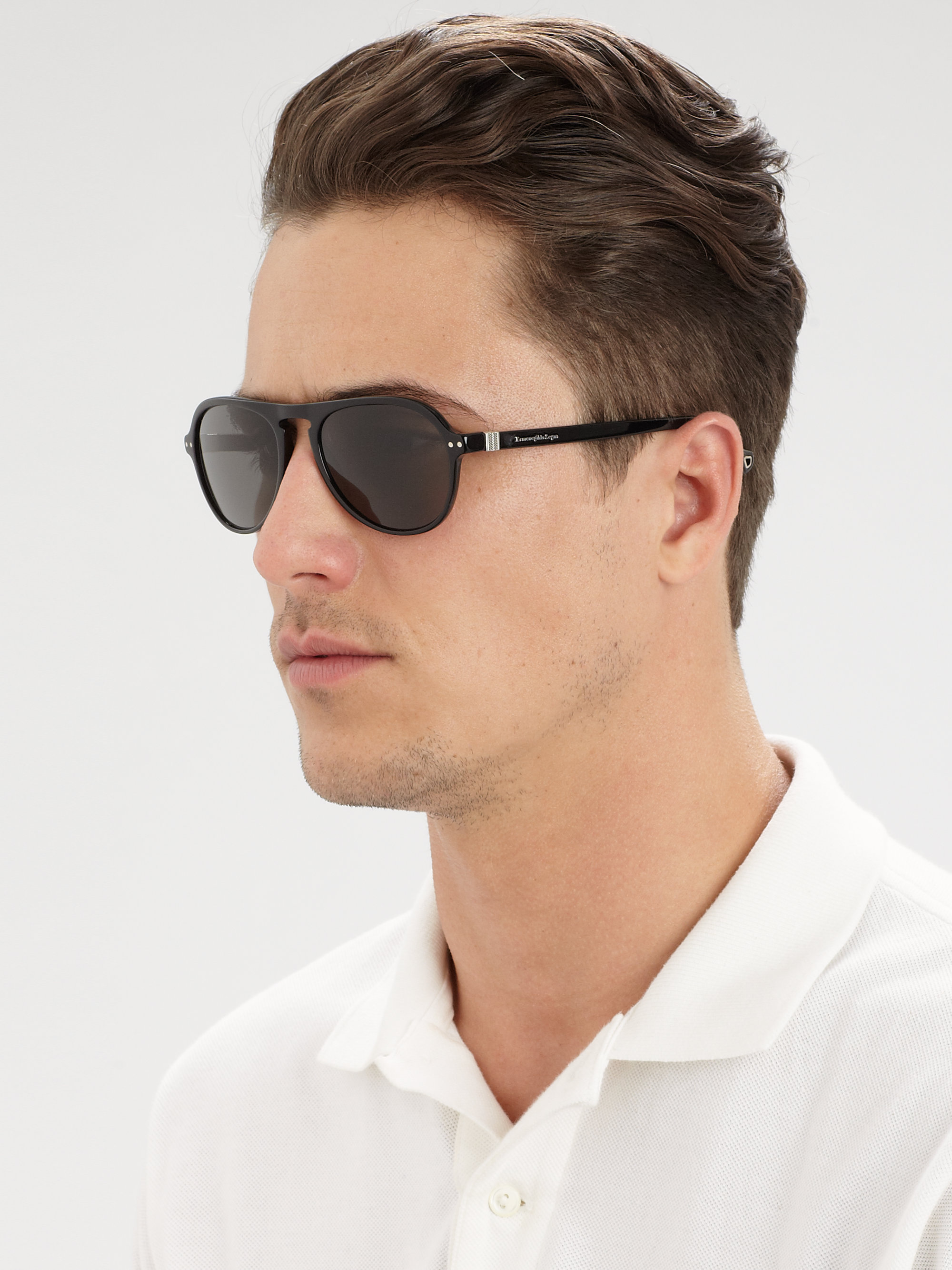 24ce9cc5d36 Lyst - Ermenegildo Zegna Vintage Aviator Sunglasses in Metallic for Men