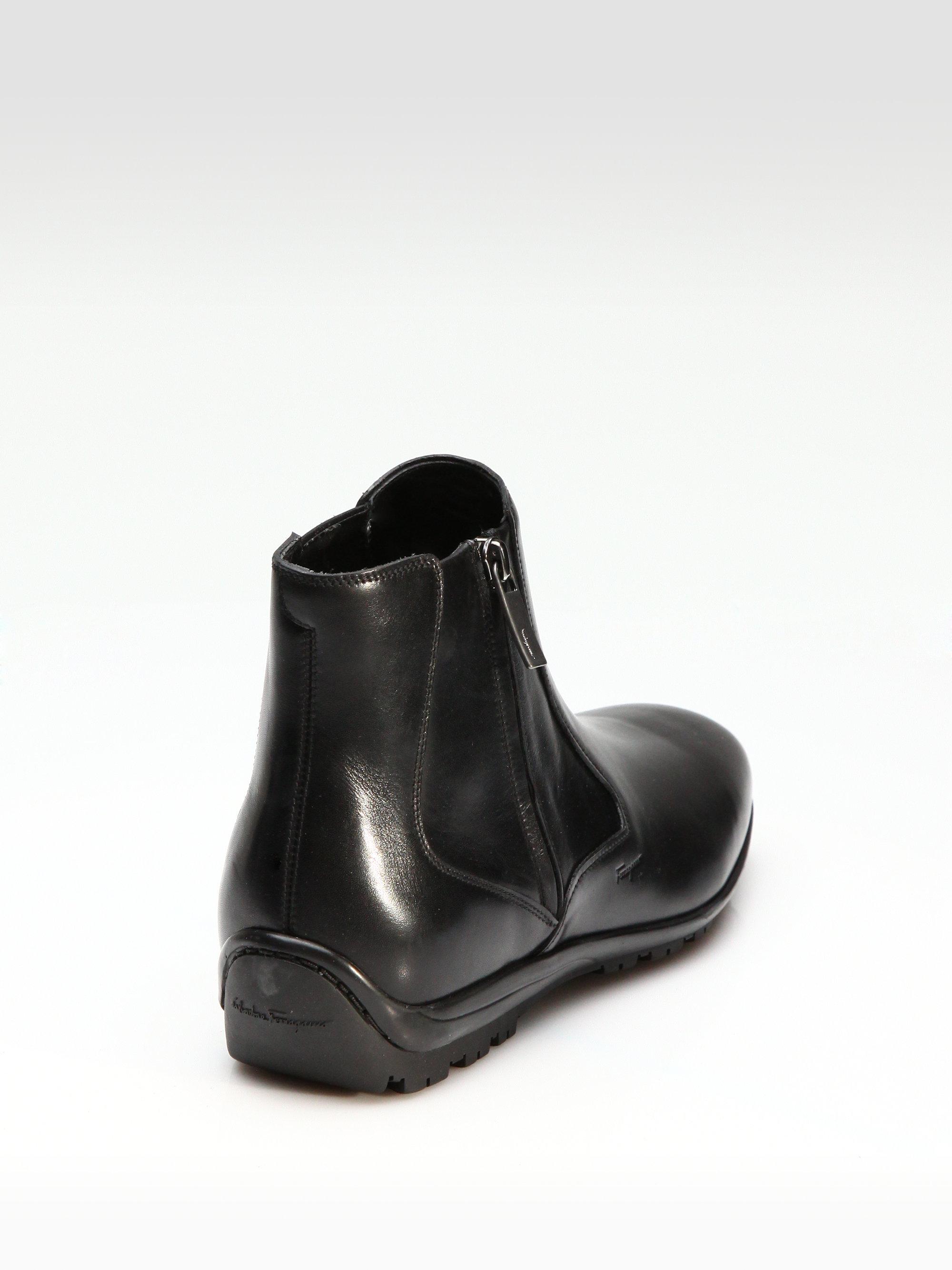 Ferragamo Cispriano Ankle Boots In Black For Men Lyst