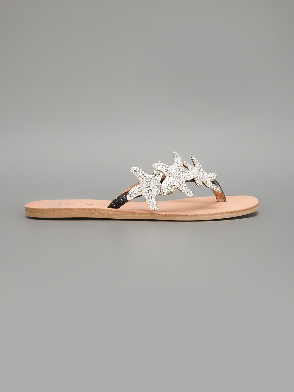 48c26e7e59646 Lyst - Jeffrey Campbell Starfish Flat Sandals in Metallic