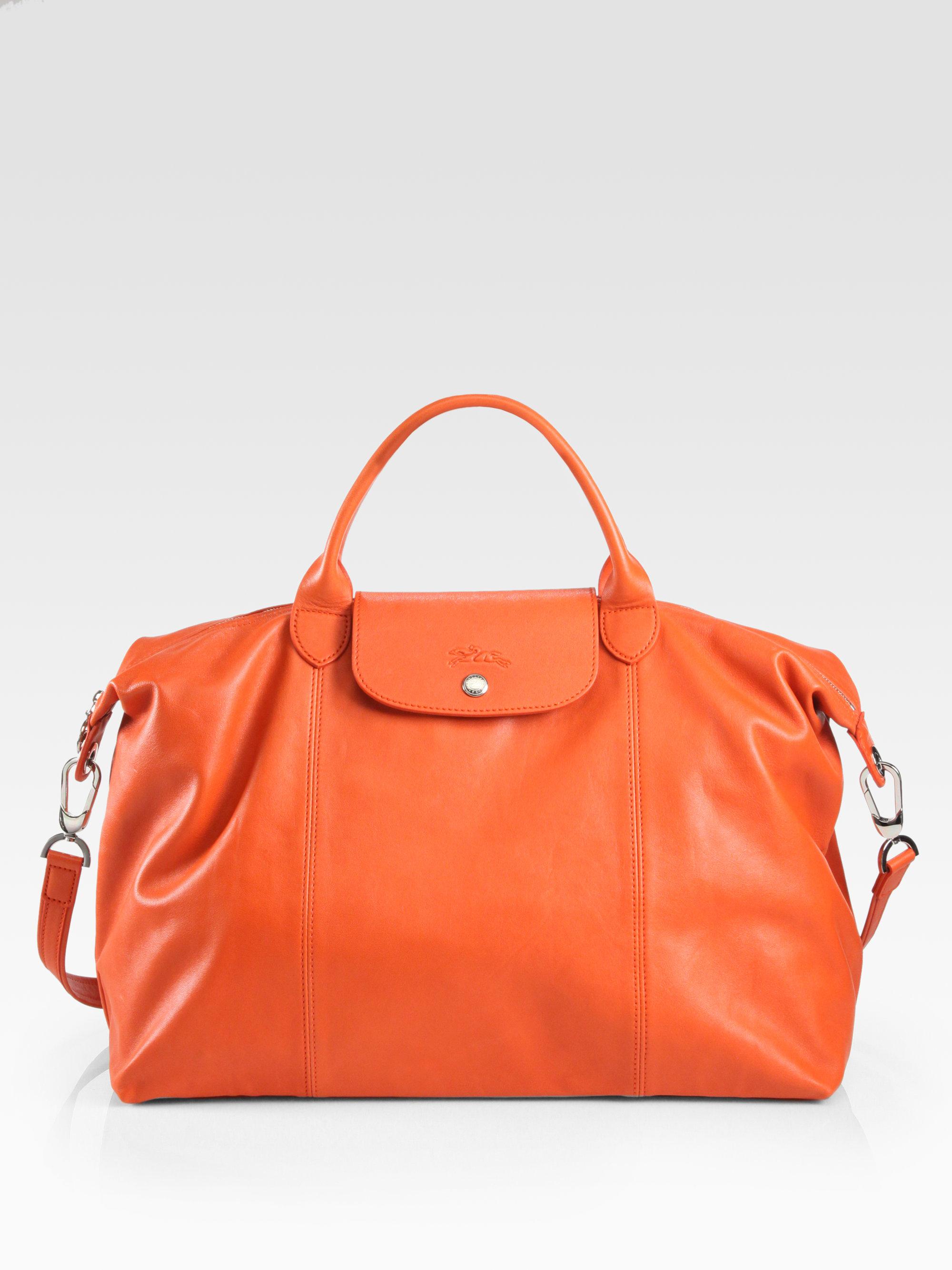 Le Pliage Cuir Large Handbag