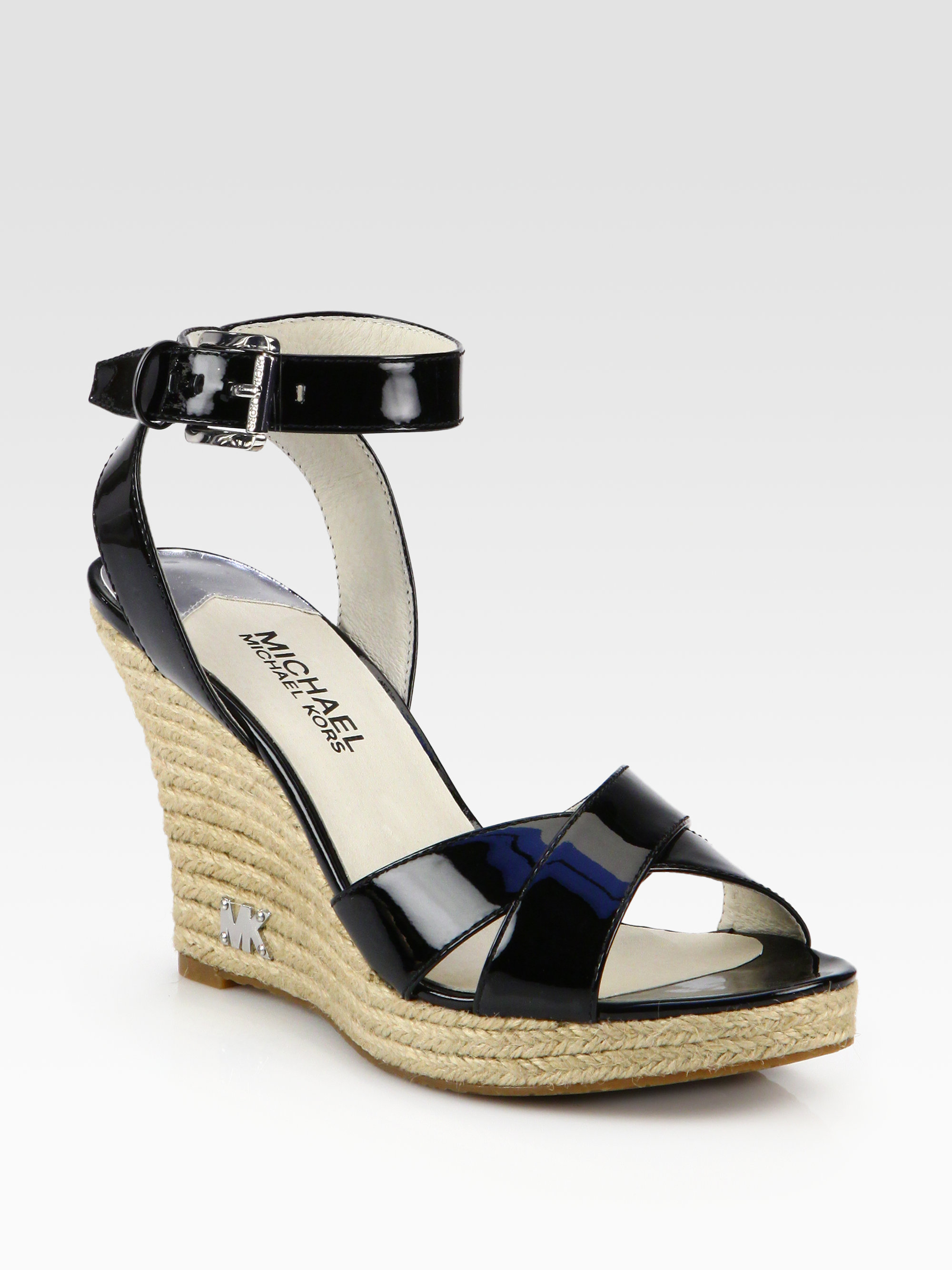 Michael Michael Kors Kami Patent Leather Espadrille Wedge
