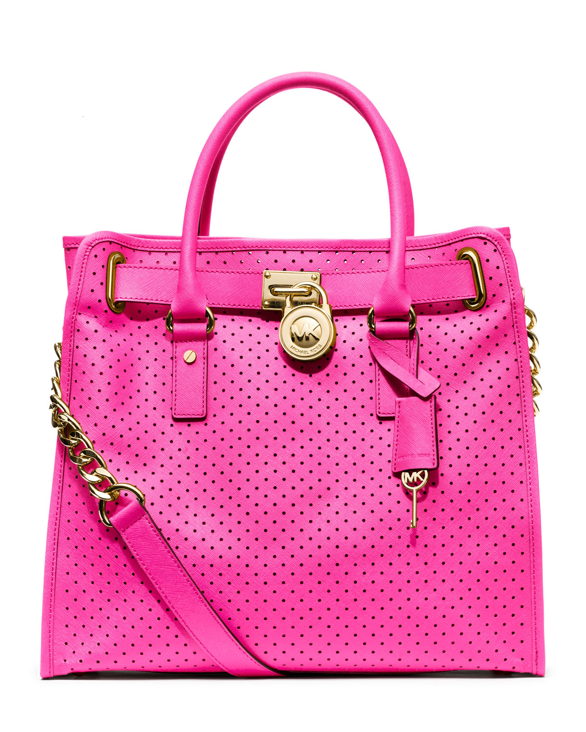 Lyst Michael Kors Large Hamilton Perforated Saffiano