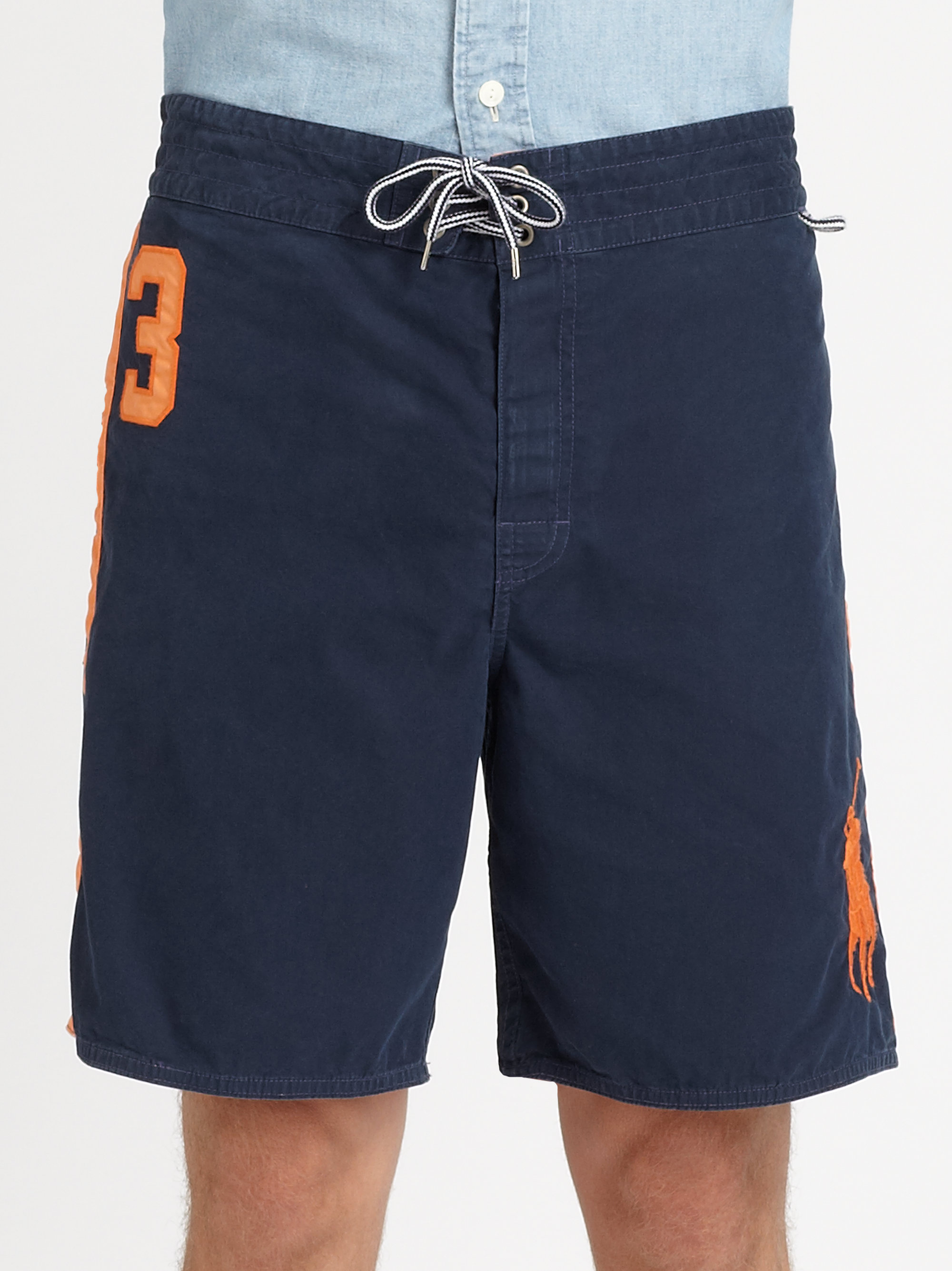 ccfc8e3ad6 ... canada lyst polo ralph lauren sanibel swim trunks in blue for men cc9e5  66c9c