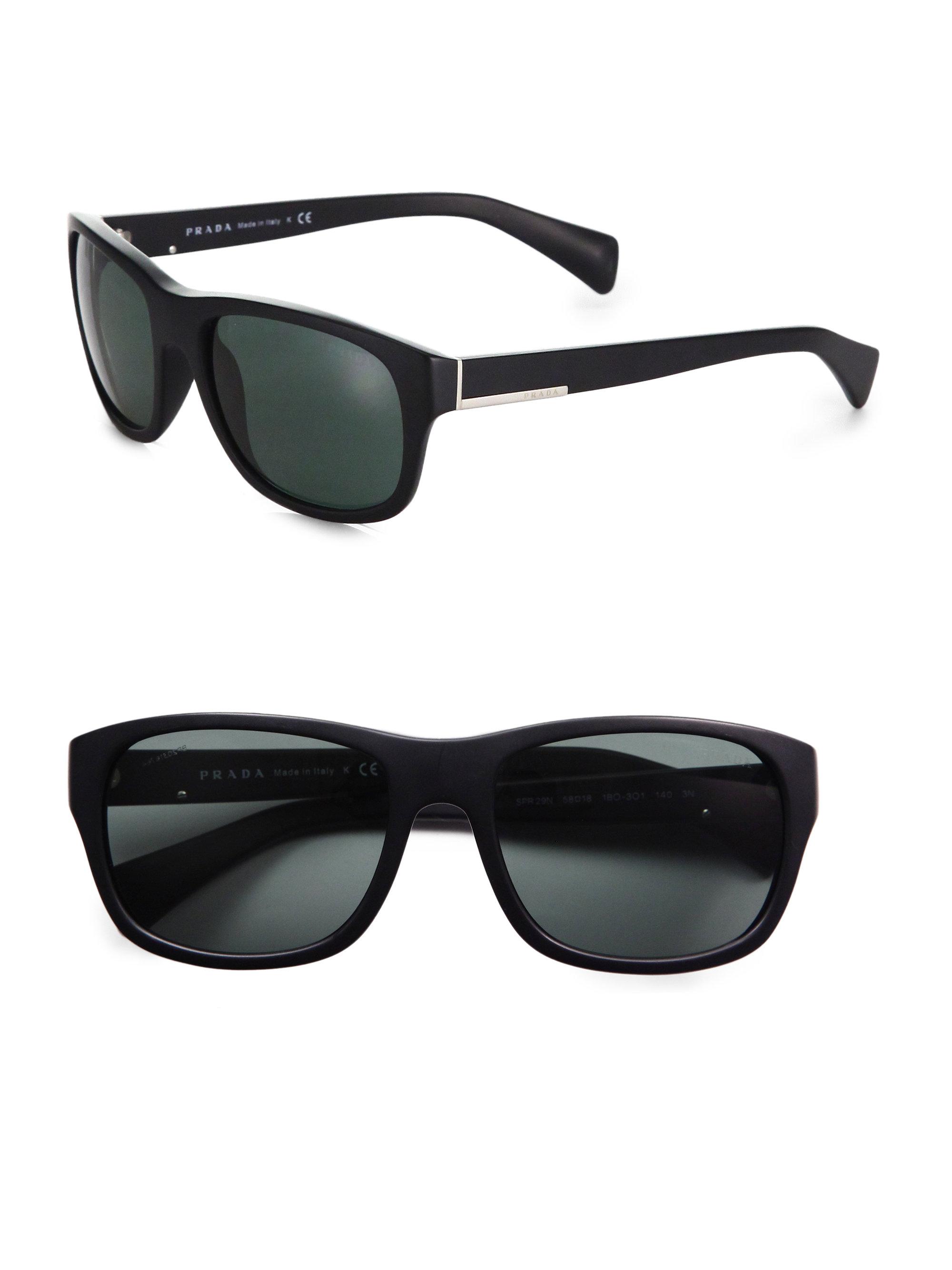 47a212146ad Lyst - Prada Classic Acetate Sunglasses in Black for Men