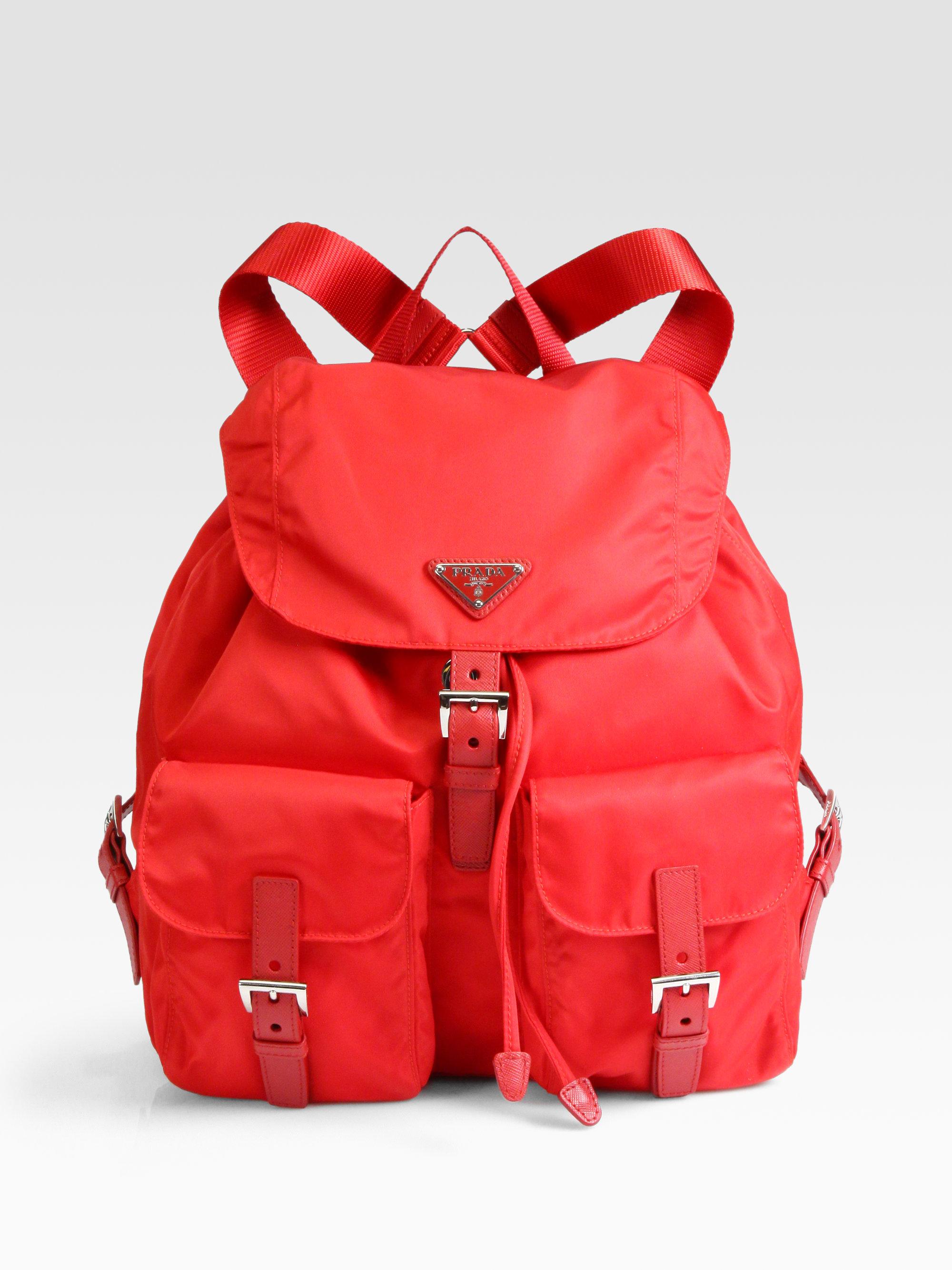 Prada Vela Backpack in Red