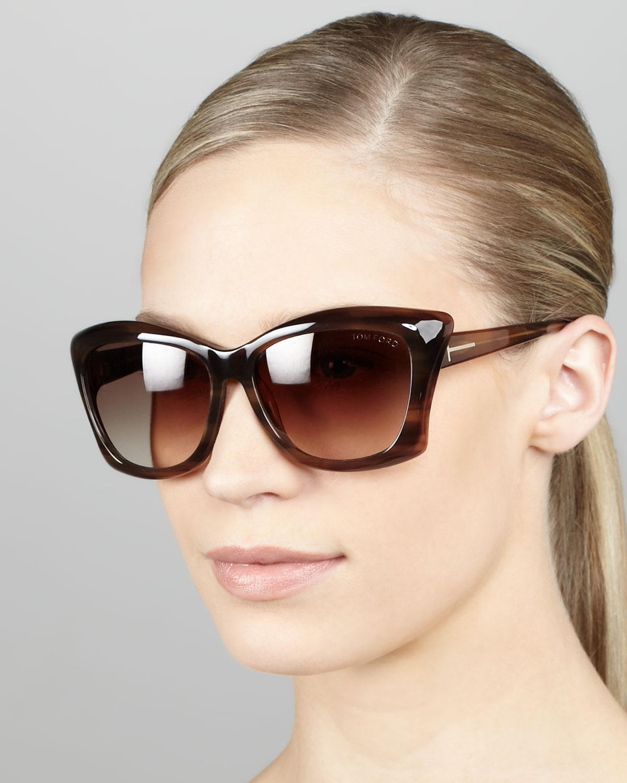 Gallery  sc 1 st  Lyst & Tom ford Lana Sunglasses Shiny Brown in Brown | Lyst markmcfarlin.com