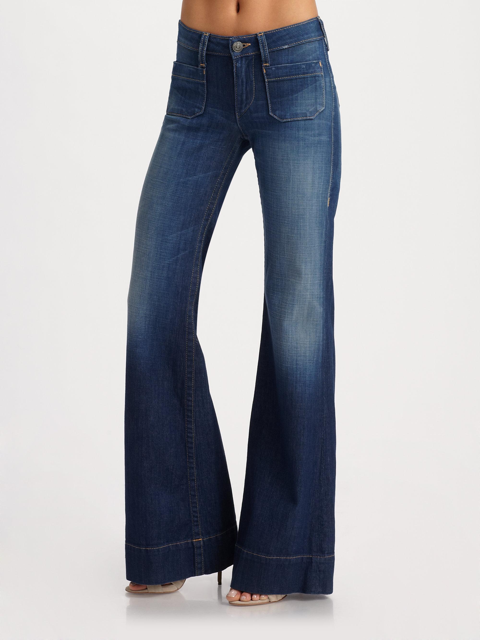 true religion gemma trouser jeans in blue lyst. Black Bedroom Furniture Sets. Home Design Ideas