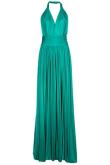 Balmain Halterneck Evening Gown - Lyst