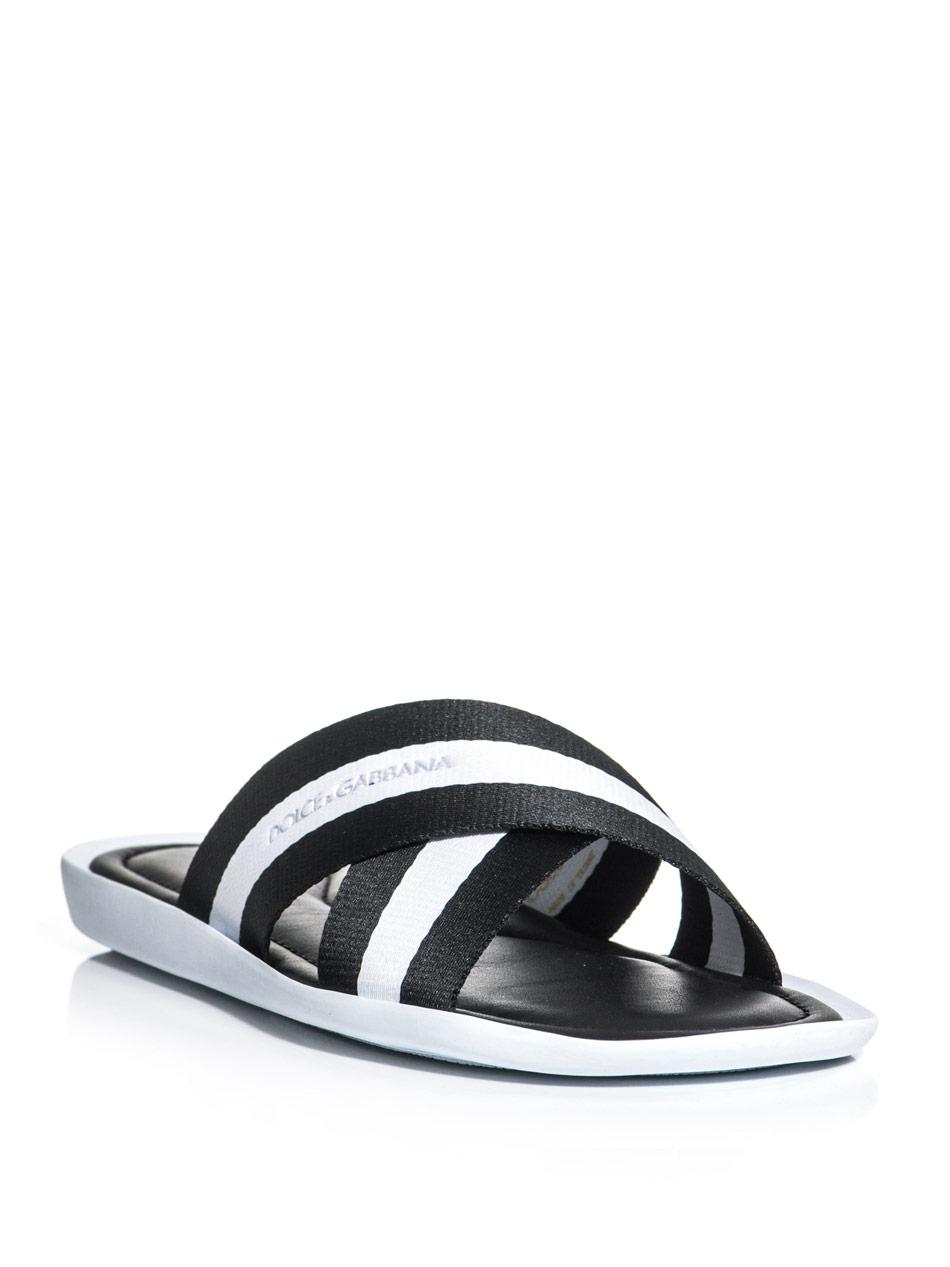 For Dolceamp; Men Crossover Lyst Sandals In Front Black Gabbana WE9I2YDH