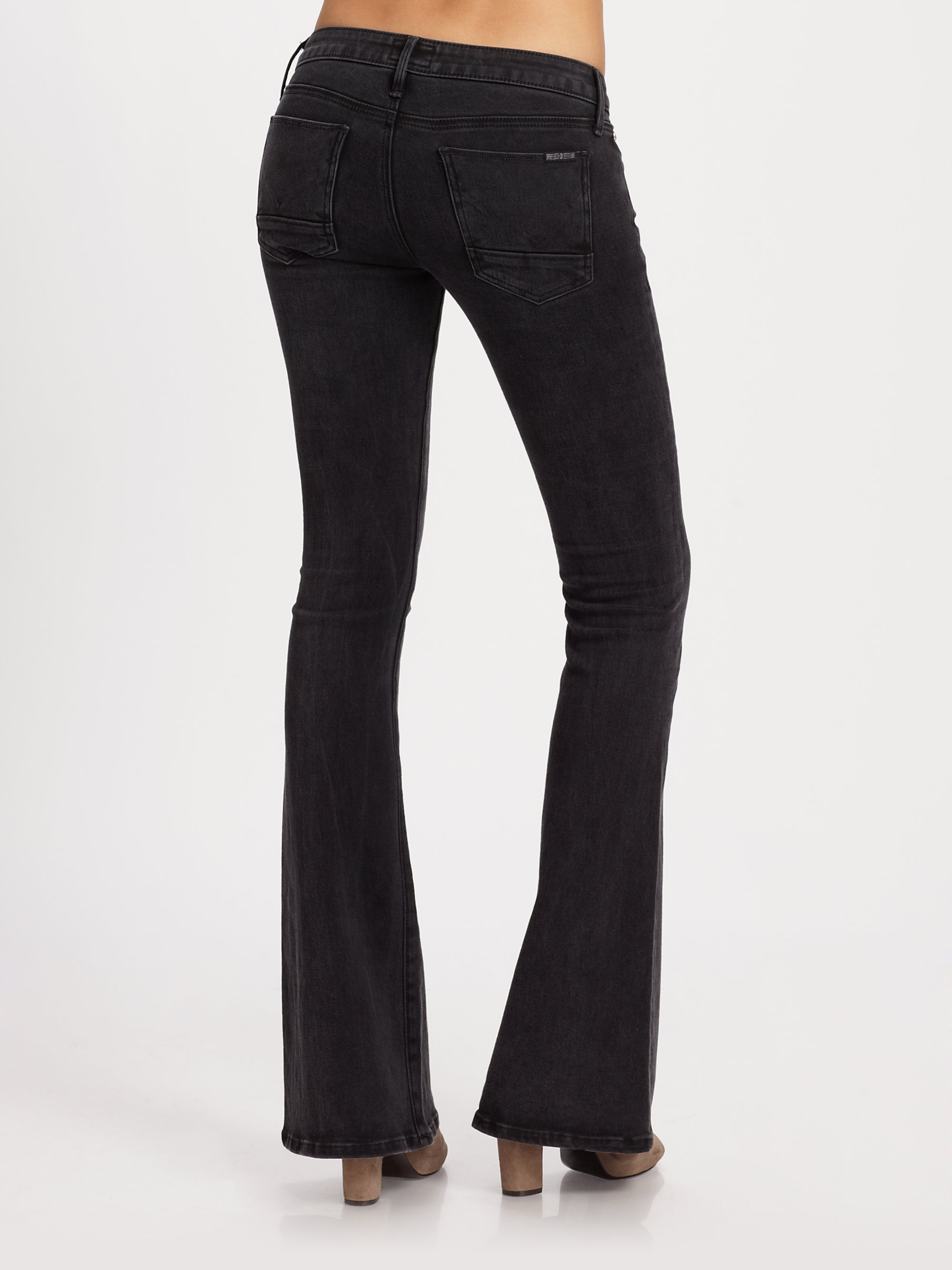 Hudson jeans Mia Flare Jeans in Black | Lyst