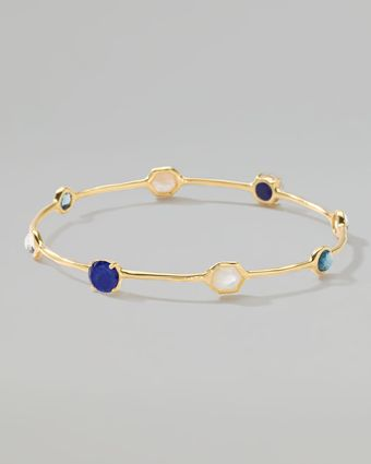Ippolita 18k Gold Rock Candy Gelato 8 Stone Bangle - Lyst