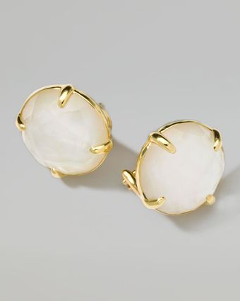 Ippolita 18k Gold Rock Candy Gelato Motherofpearl Stud Earrings - Lyst