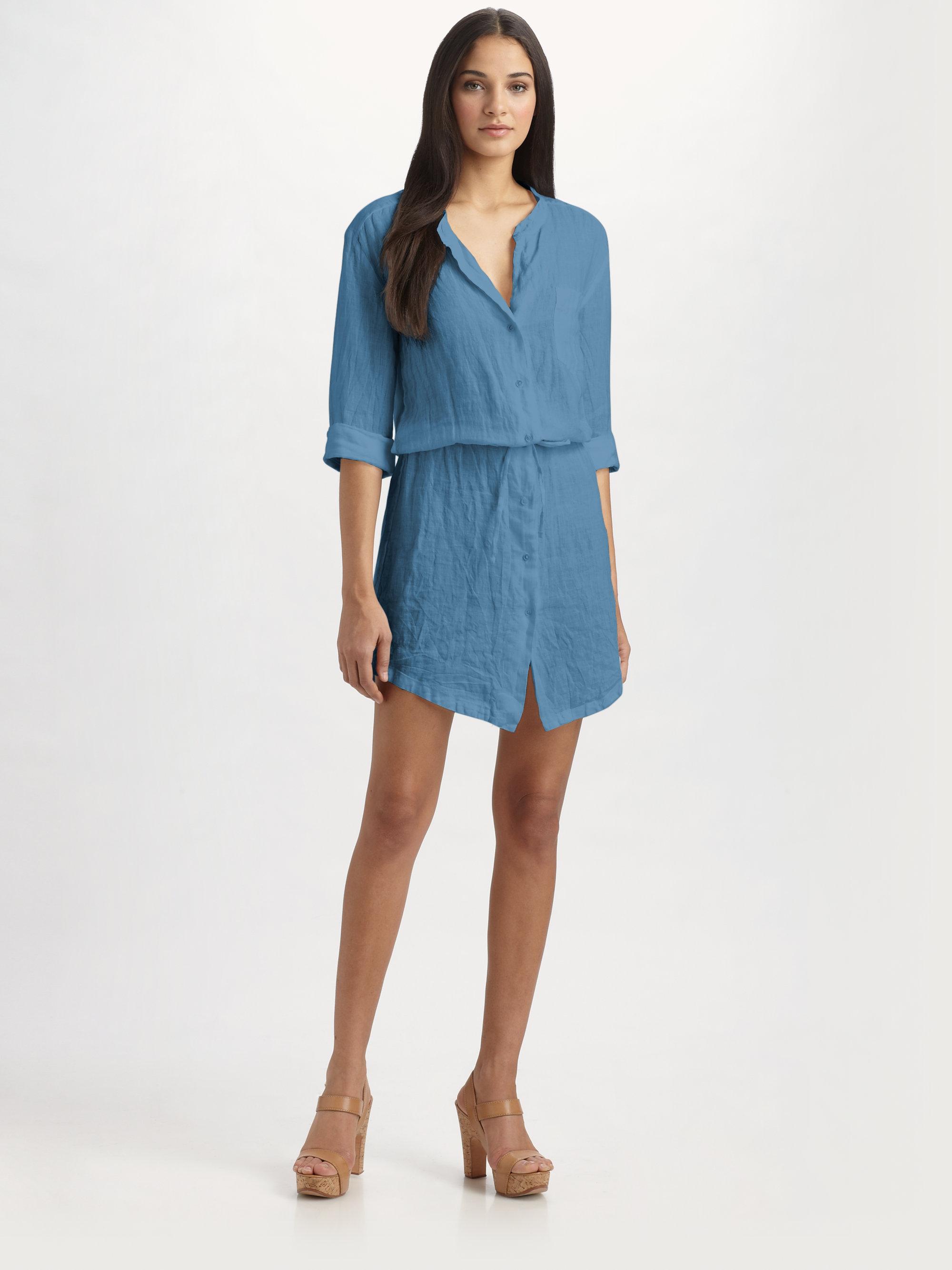 Linen Shirt Dress Ejn Dress