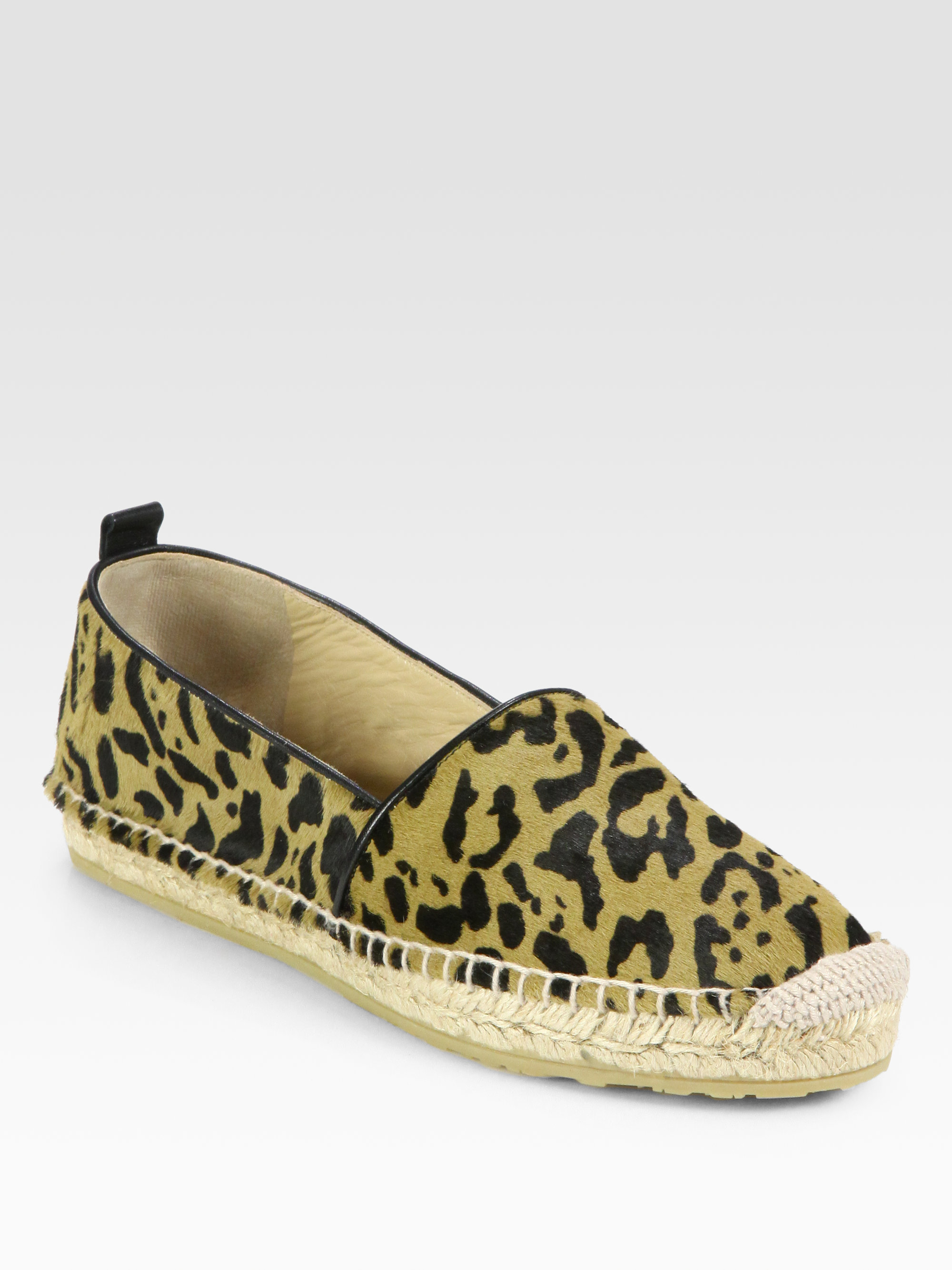 jimmy choo gaine leopardprint pony hair espadrille flats. Black Bedroom Furniture Sets. Home Design Ideas