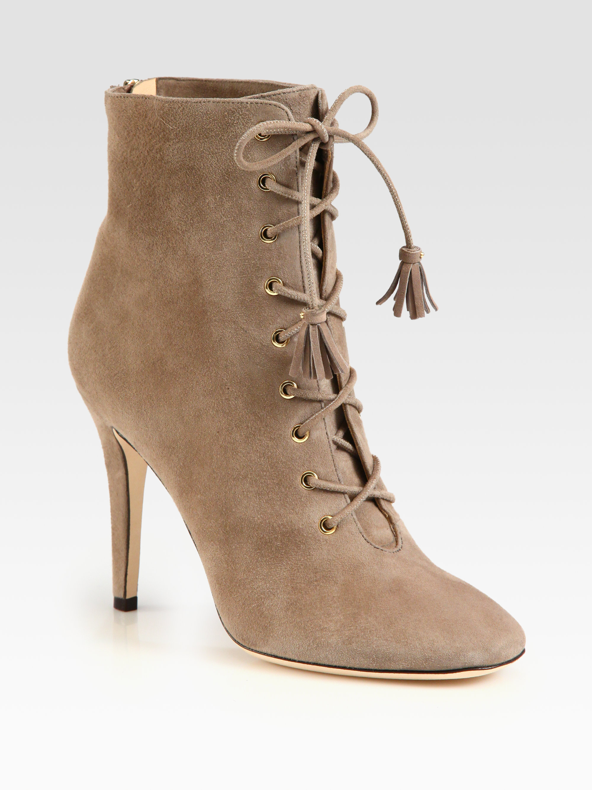 buy cheap extremely Jimmy Choo Leather Lace-Up Boots shipping discount sale outlet best place Knt3V