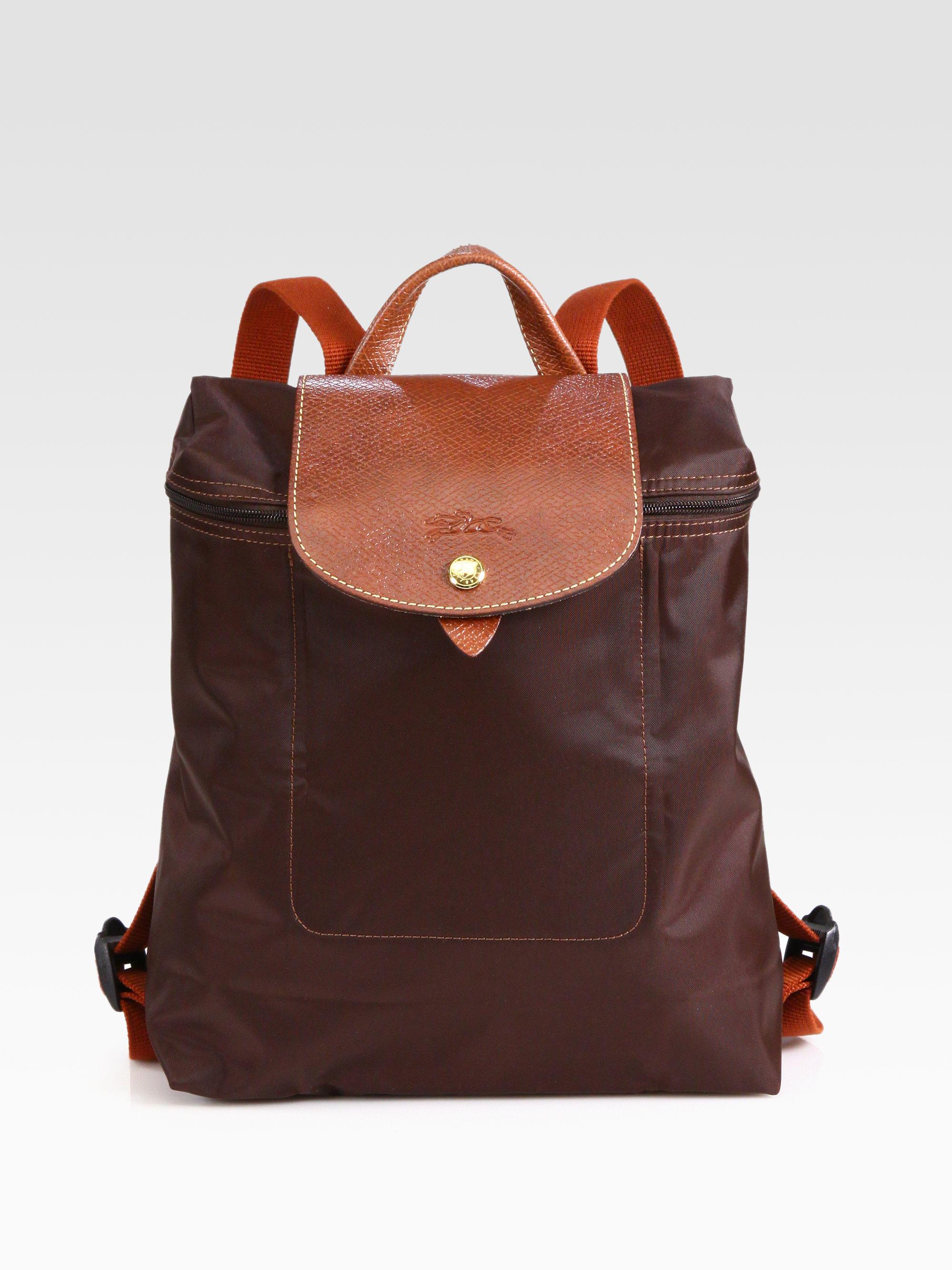 Lyst Longchamp Le Plaige Nylon Backpack In Brown
