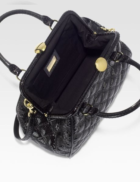 Marc Jacobs Stam Patent Python Embossed Leather Satchel in ...