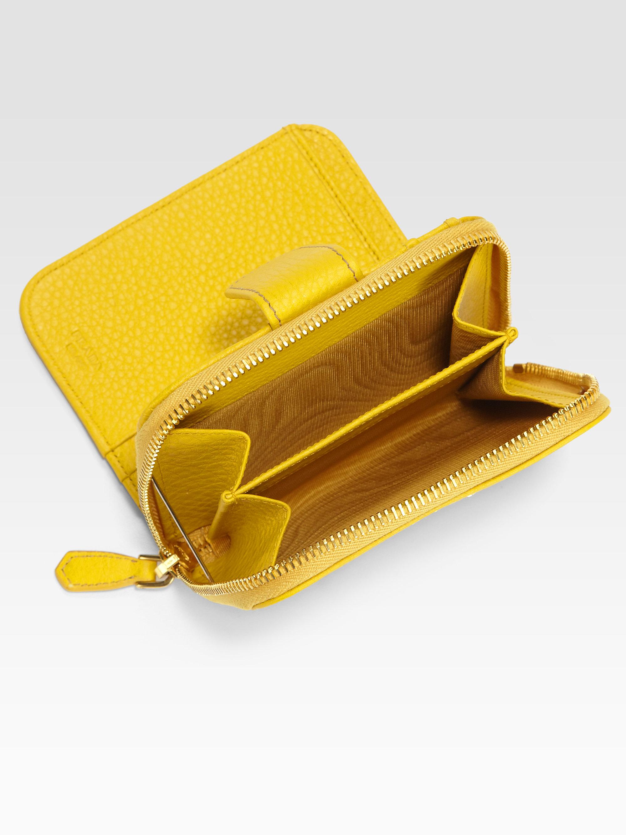 leather prada backpack - prada yellow wallet