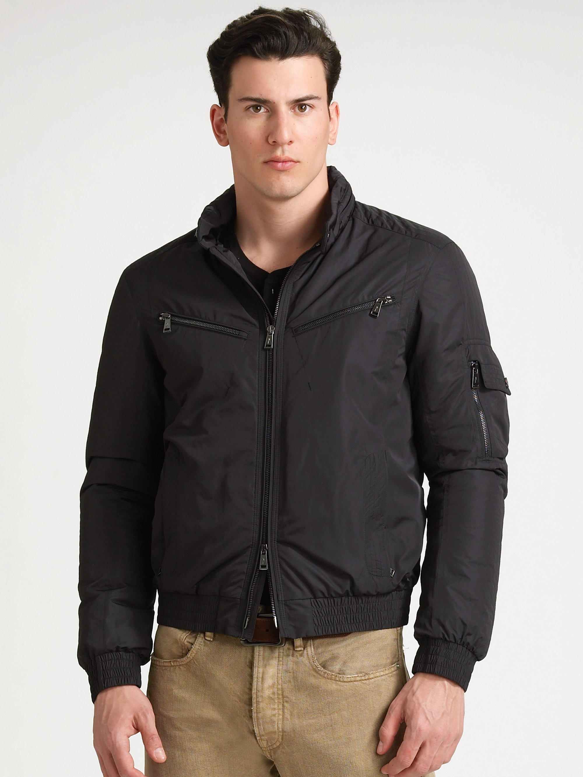 Ralph lauren black label Loft Tech Bomber Jacket in Black for Men | Lyst