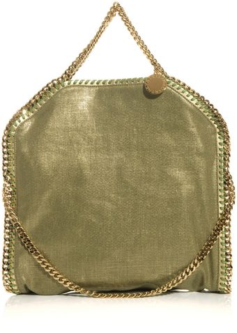 Stella McCartney Falabella Metallic Linen Bag - Lyst