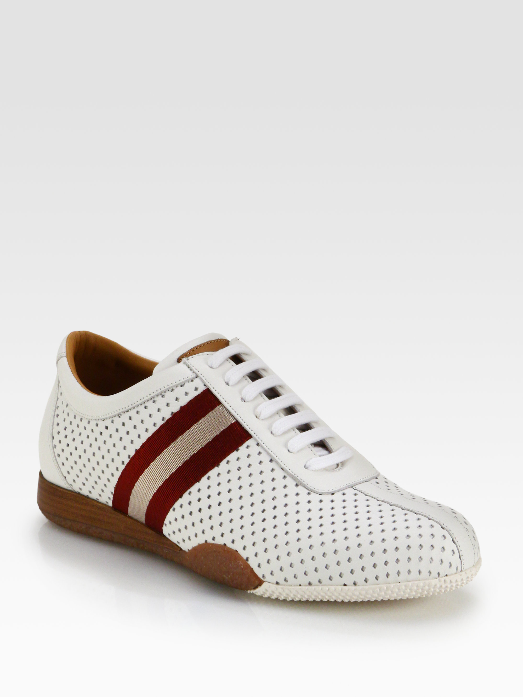 Bally Perforated Leather Sneakers in