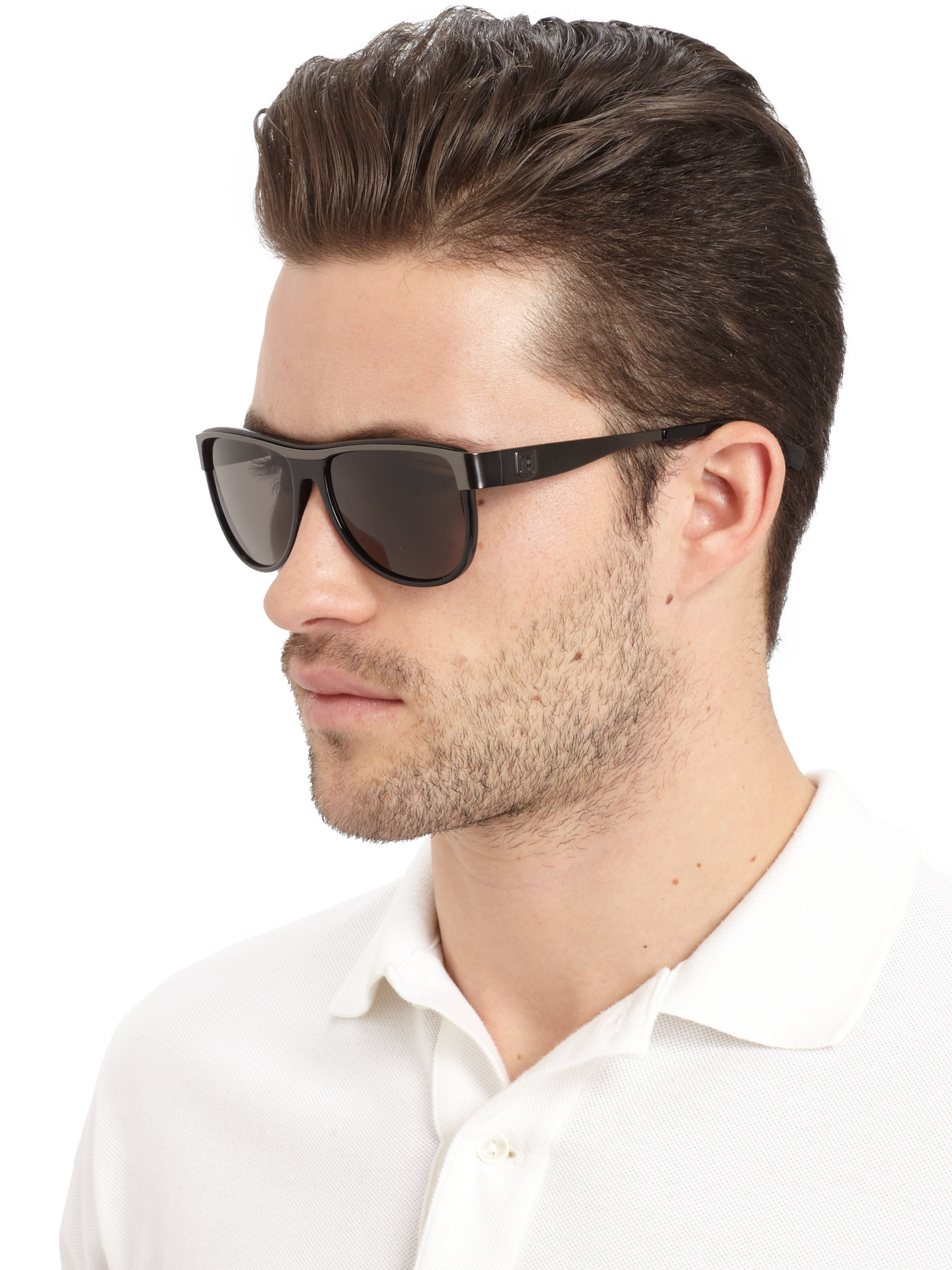 For Men Acetate Sunglassesblack Grey Aviator Metal Balmain 8wNvnm0