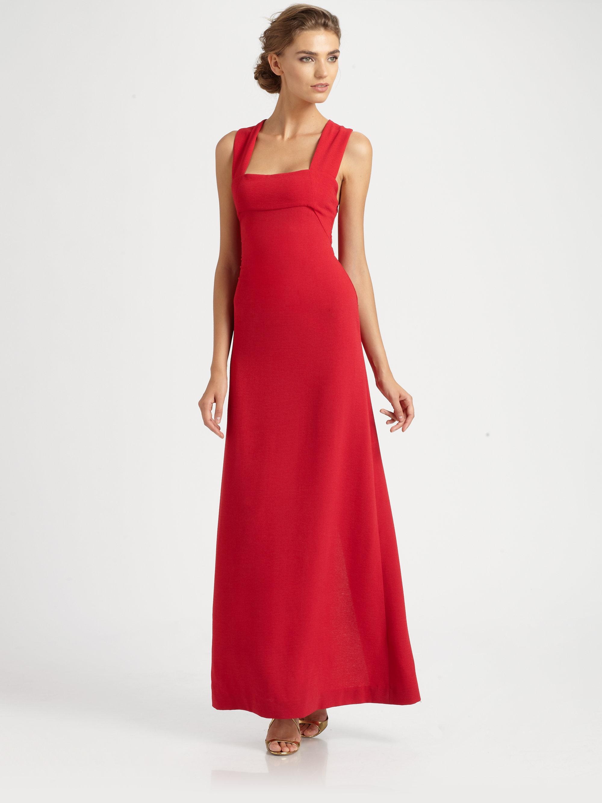 Lyst - Bcbgmaxazria Agata Gown in Red