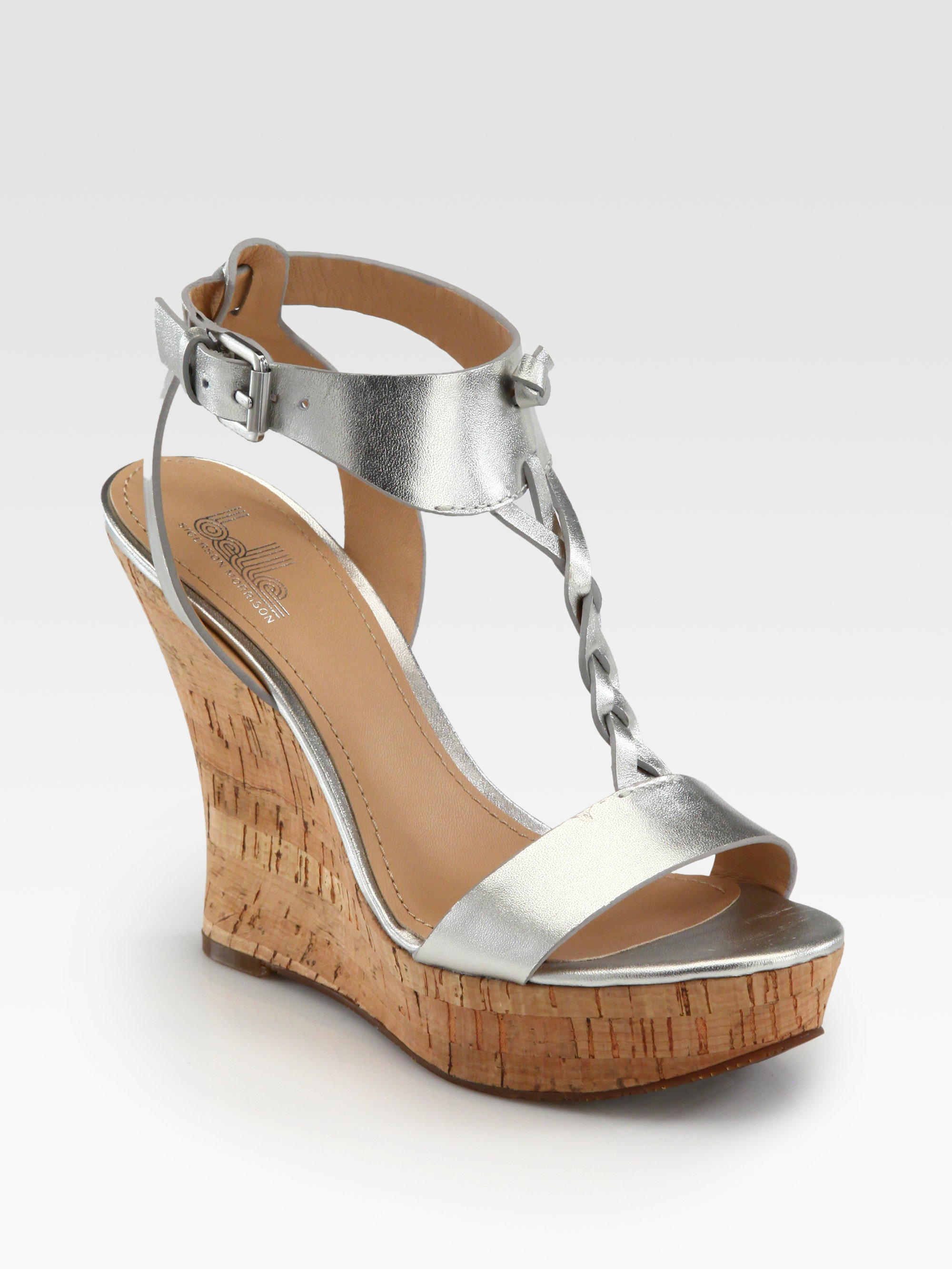 Belle By Sigerson Morrison Bela Braided Metallic Leather