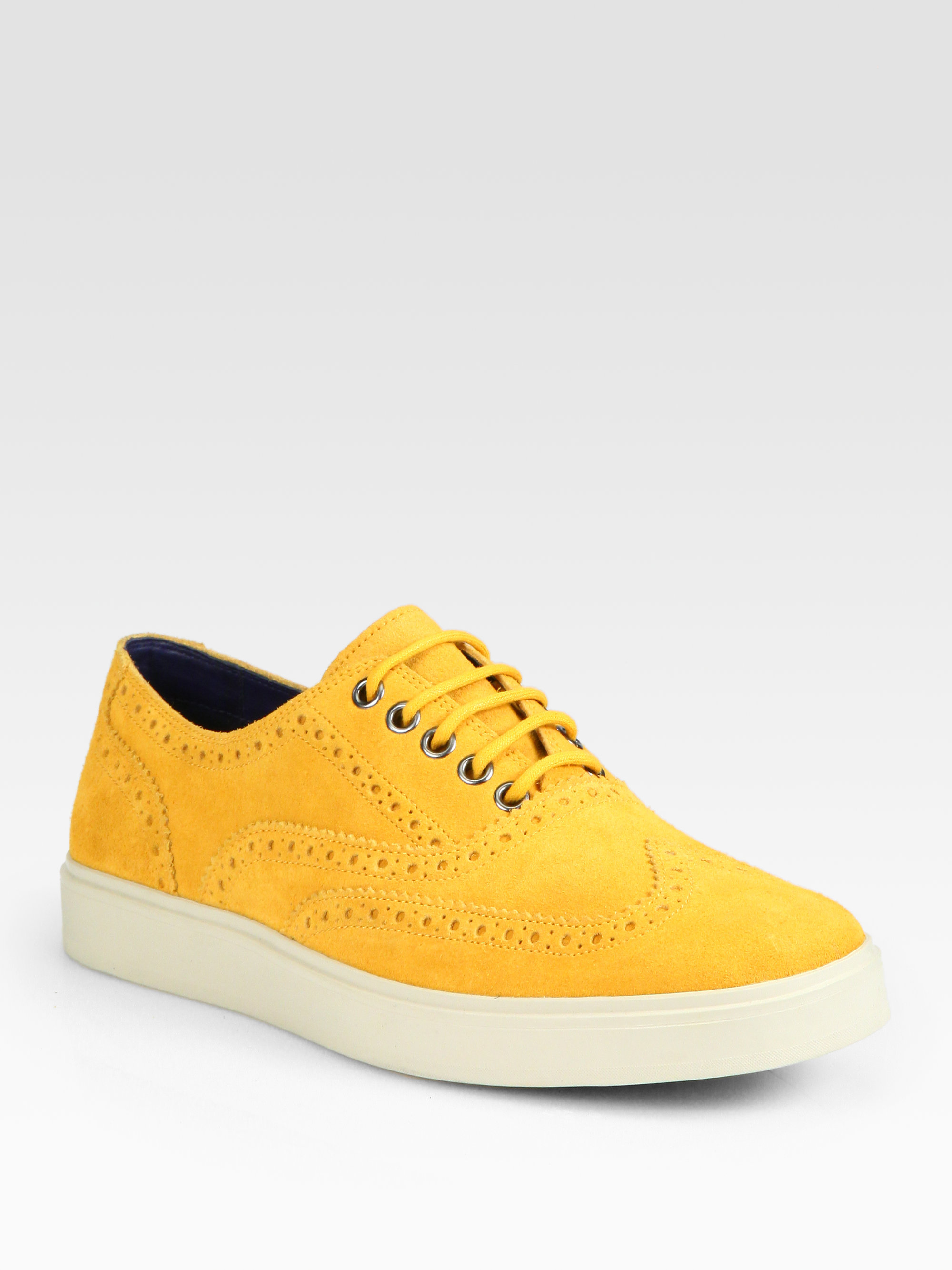 Yellow Lace Up Shoes