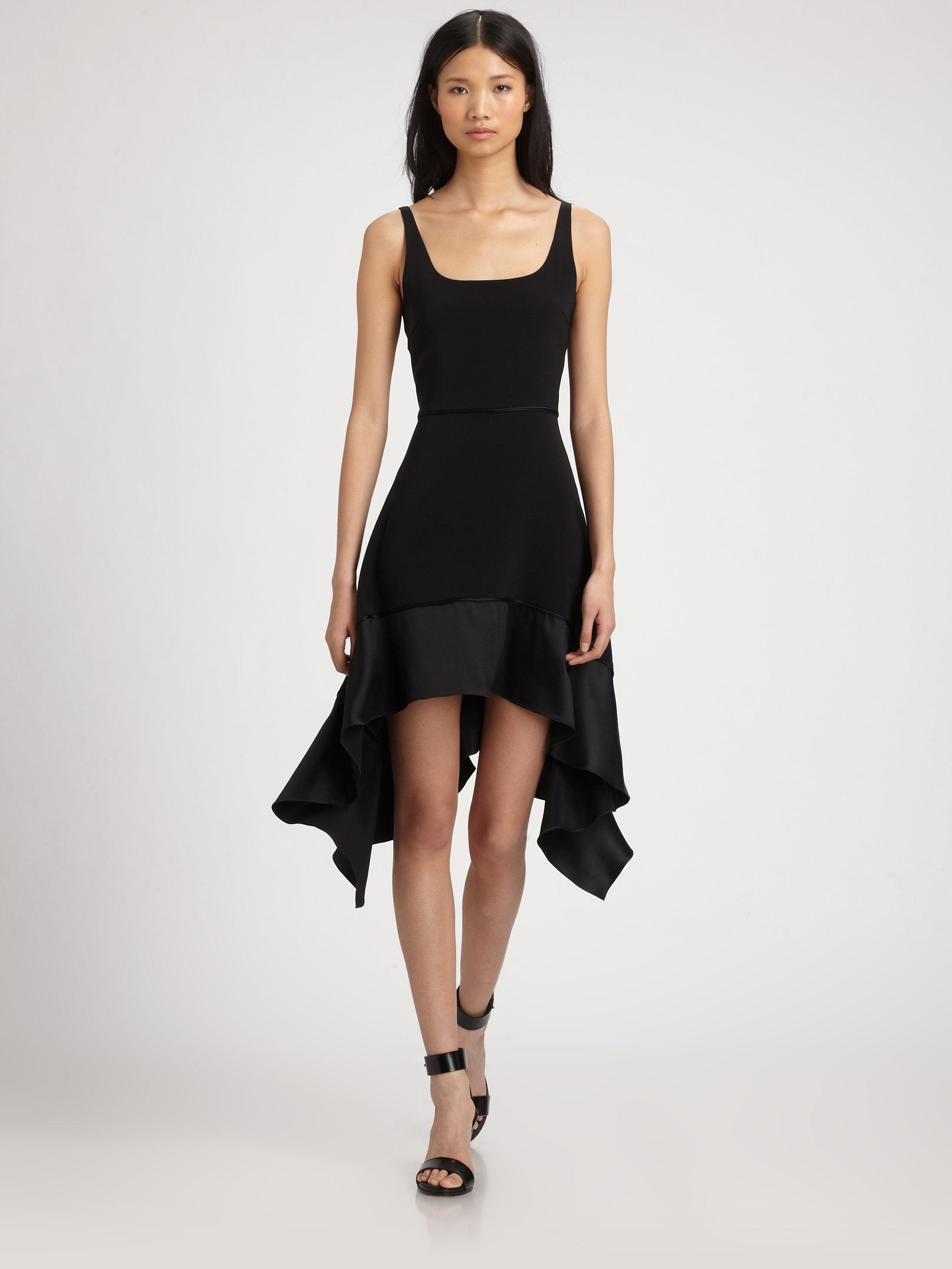 lyst elizabeth and james portia stretchsilk dress in black. Black Bedroom Furniture Sets. Home Design Ideas