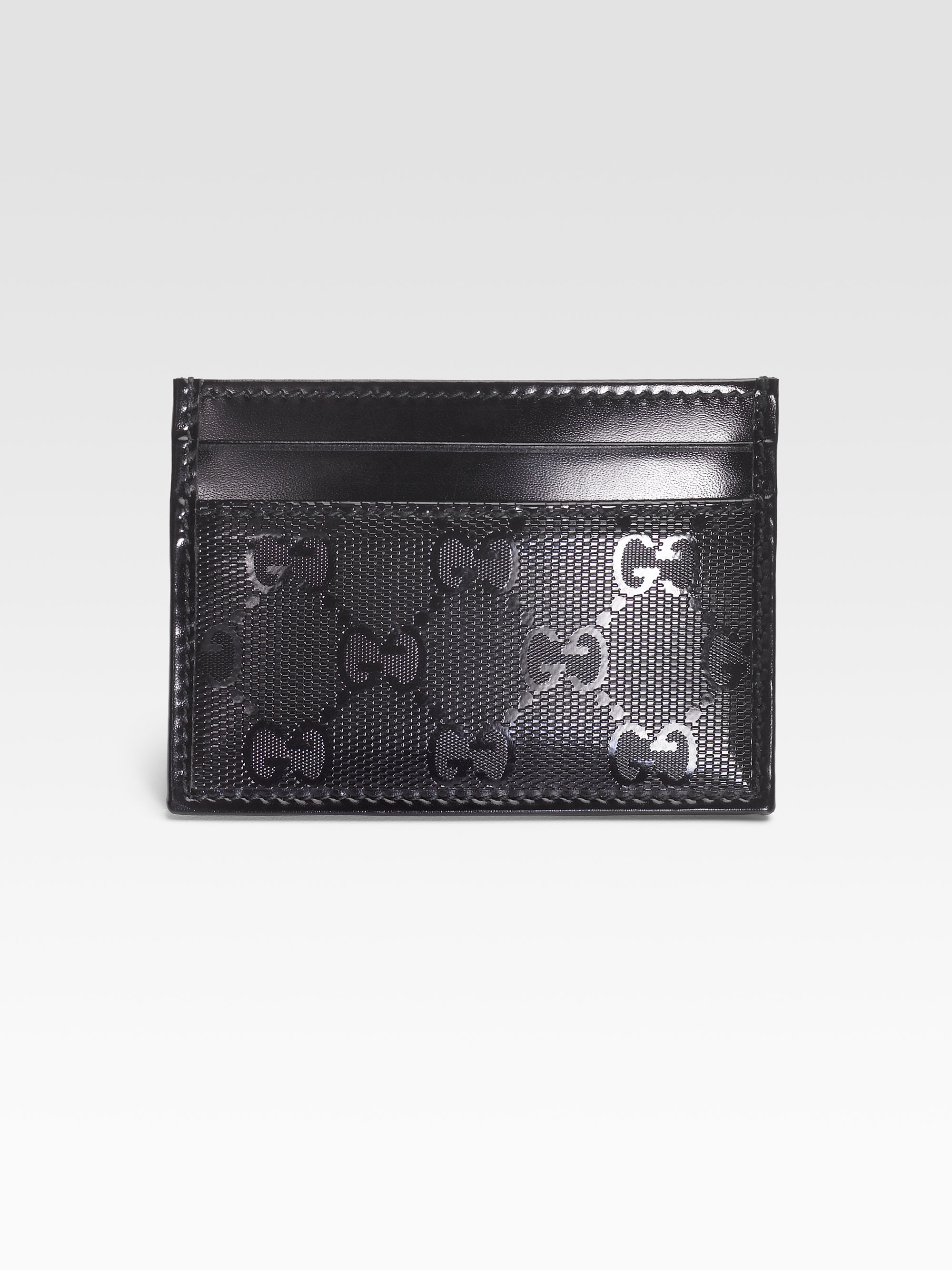Gucci gg imprime card case in black for men lyst gallery magicingreecefo Images