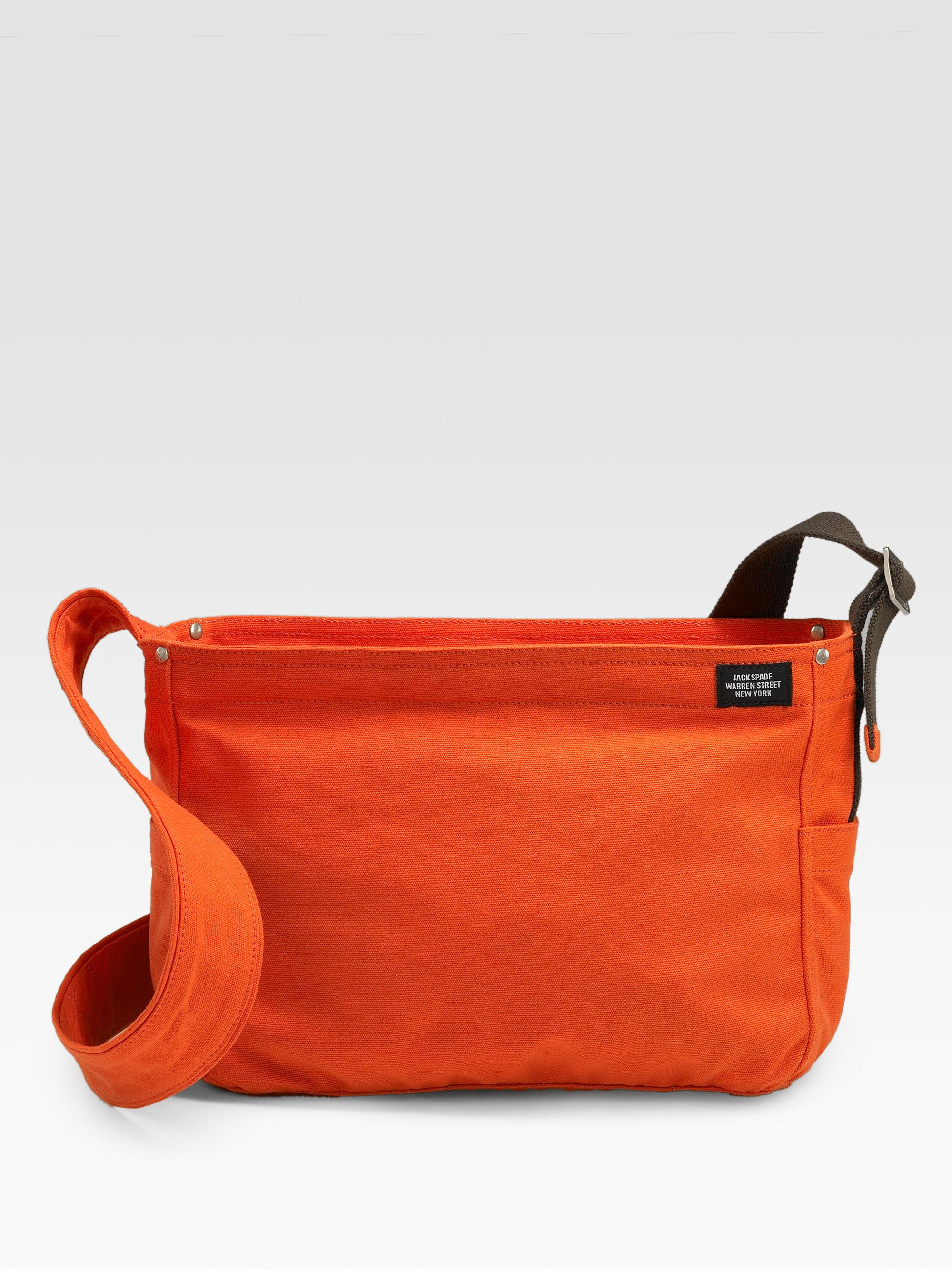 2cf1979d8d49 Lyst - Jack Spade Lightweight Canvas Messenger Bag in Orange for Men