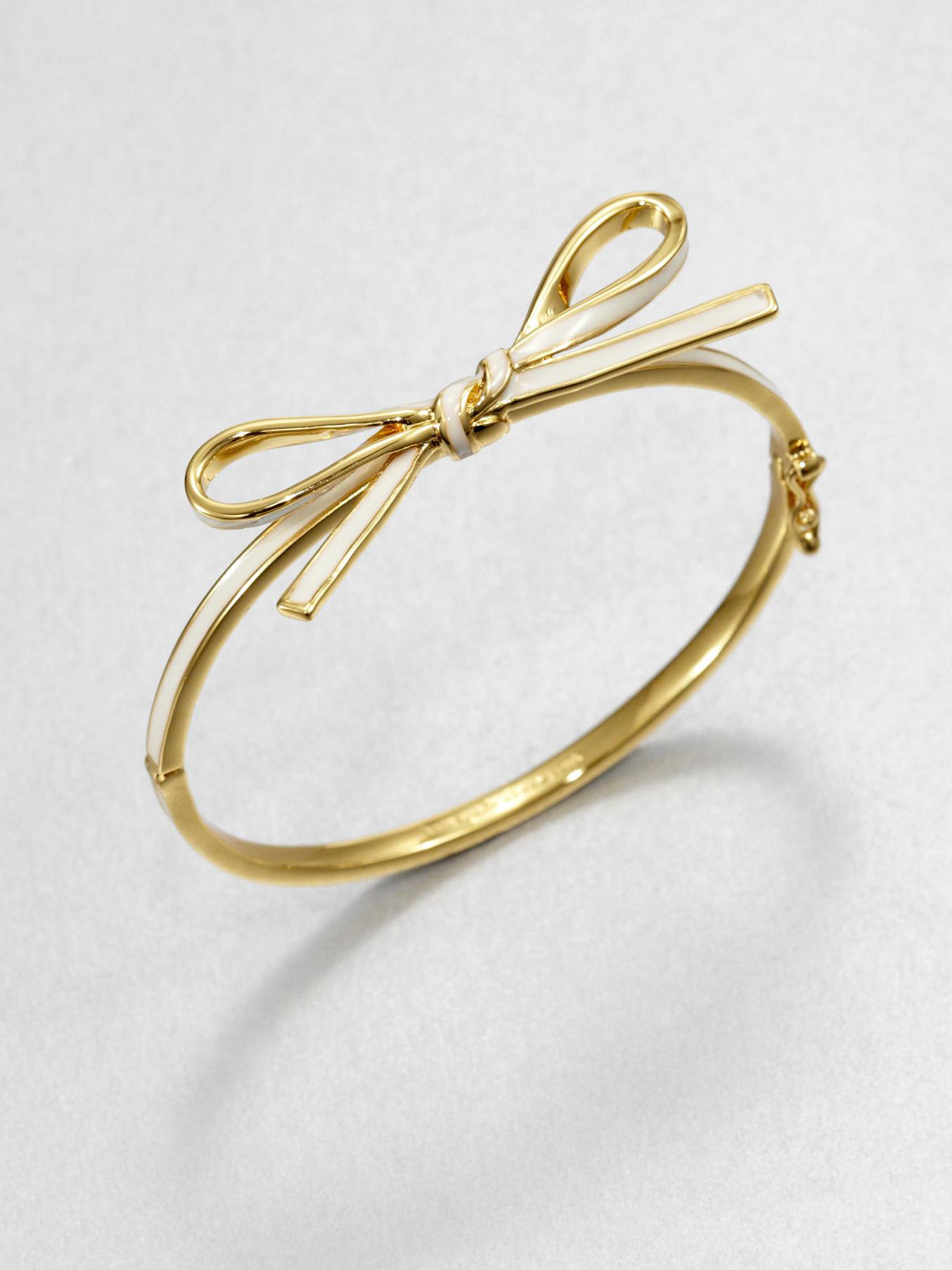Skinny Mini Enamel Bow Bangle Bracelet