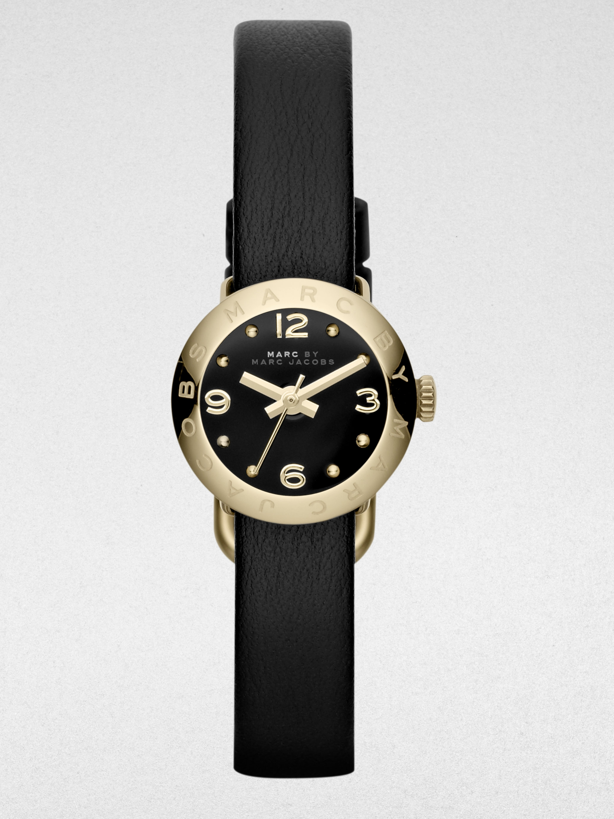 marc by marc goldtone stainless steel leather