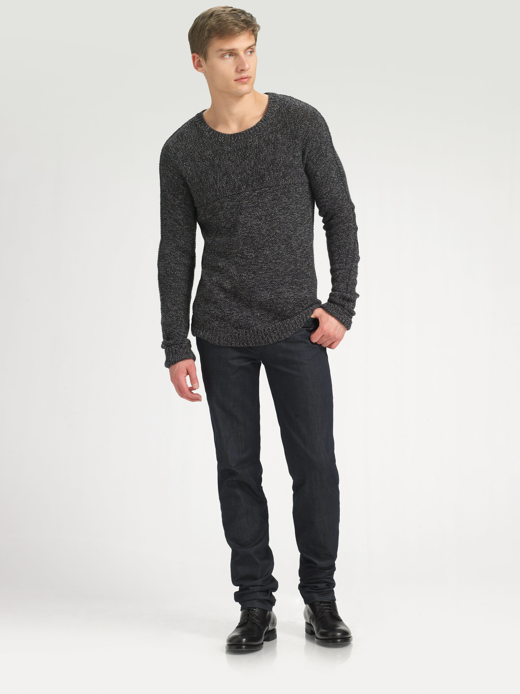 marc by marc jacobs roland sweater in gray for men lyst. Black Bedroom Furniture Sets. Home Design Ideas