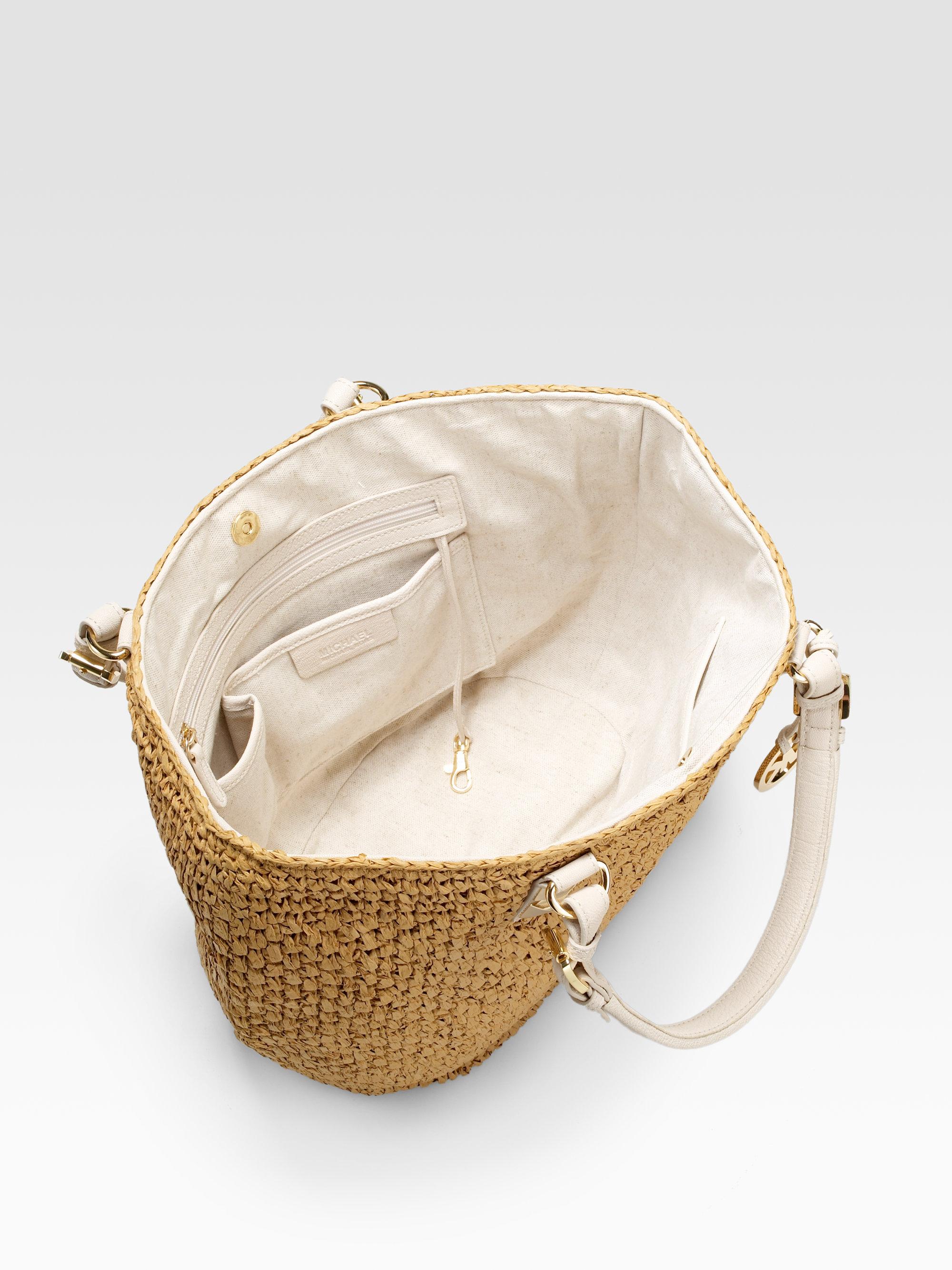 1b545b0f484d Michael Kors Straw Handbag - Foto Handbag All Collections ...