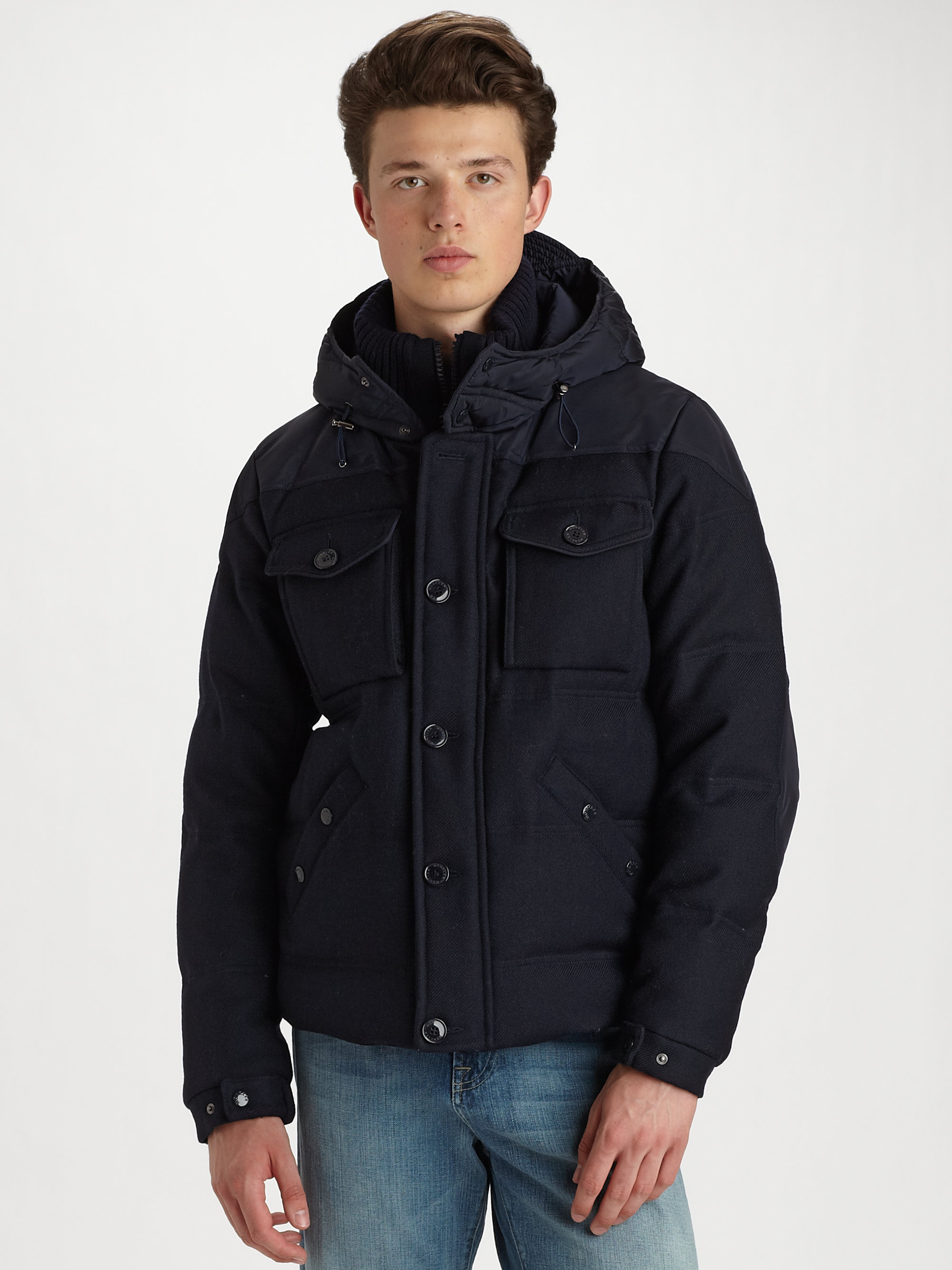 moncler republique hooded down bomber