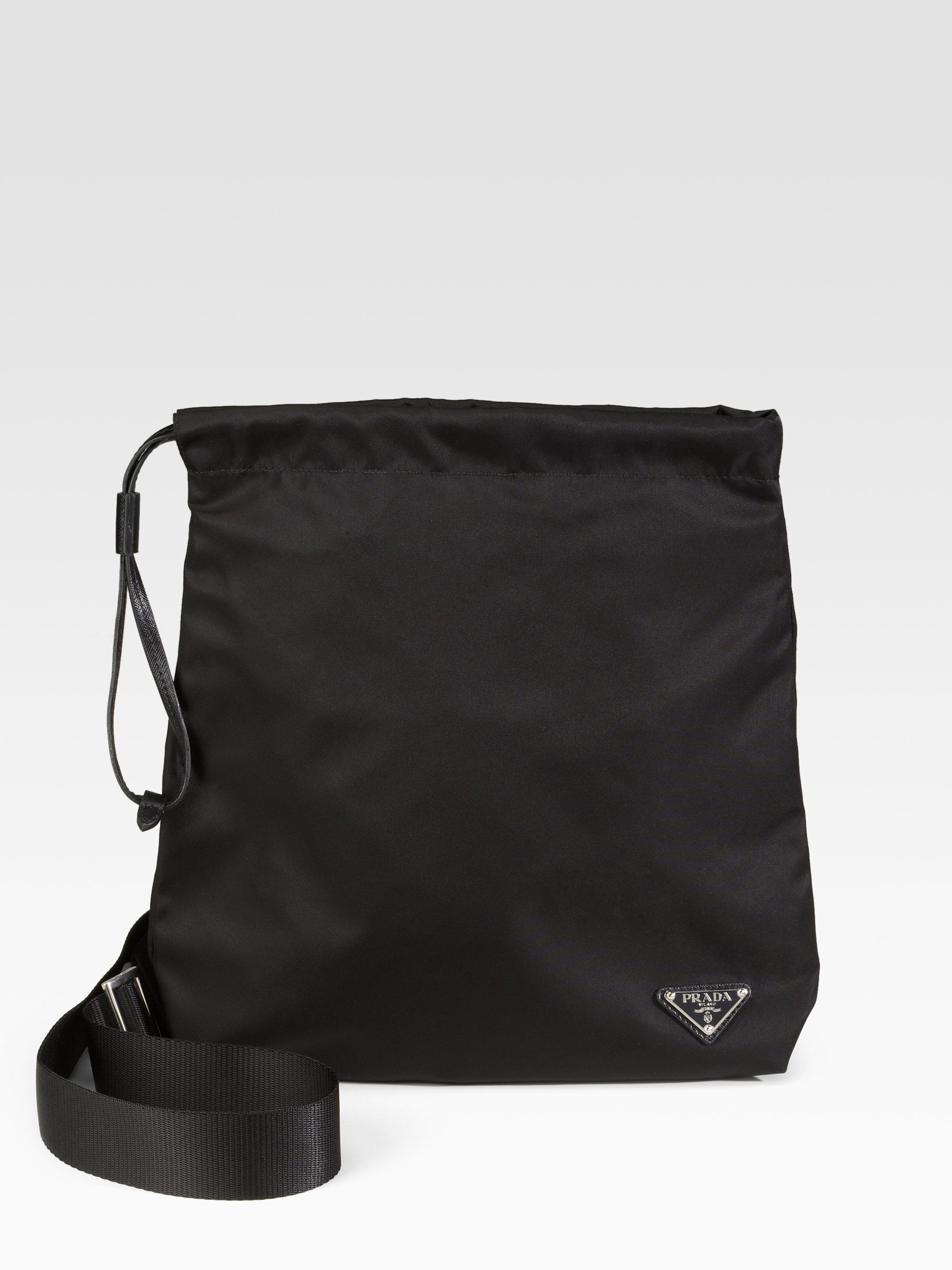 prada tessuto nylon logo crossbody bag