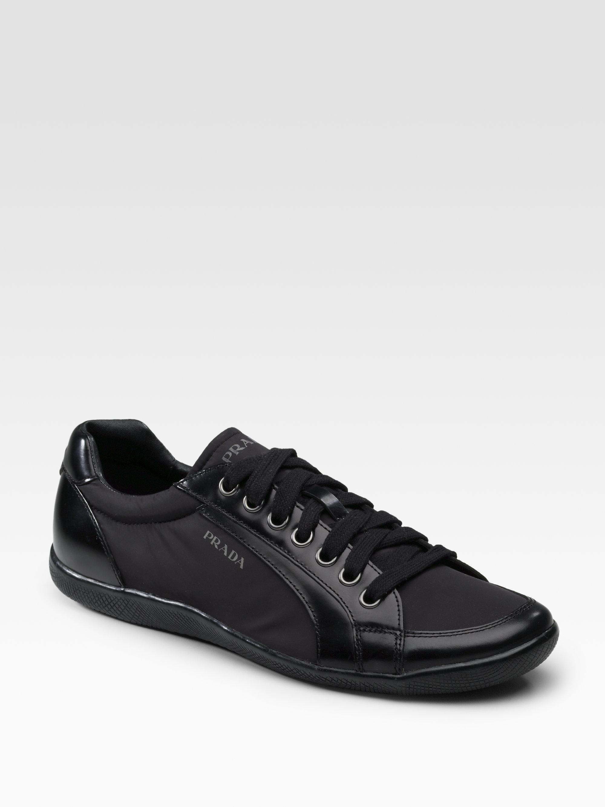 Prada Nylon Sneakers in Nero (Black